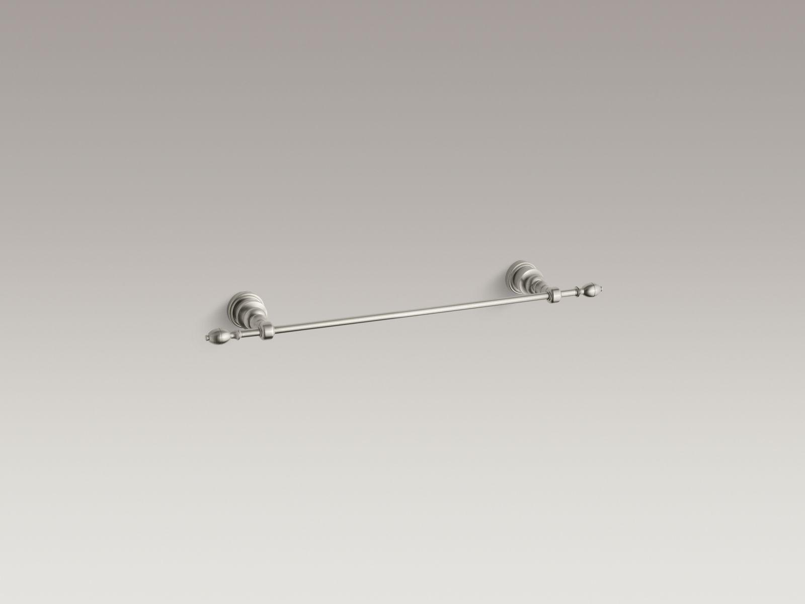 """Kohler K-6816-BN IV Georges Brass 18"""" Towel Bar Vibrant Brushed Nickel"""