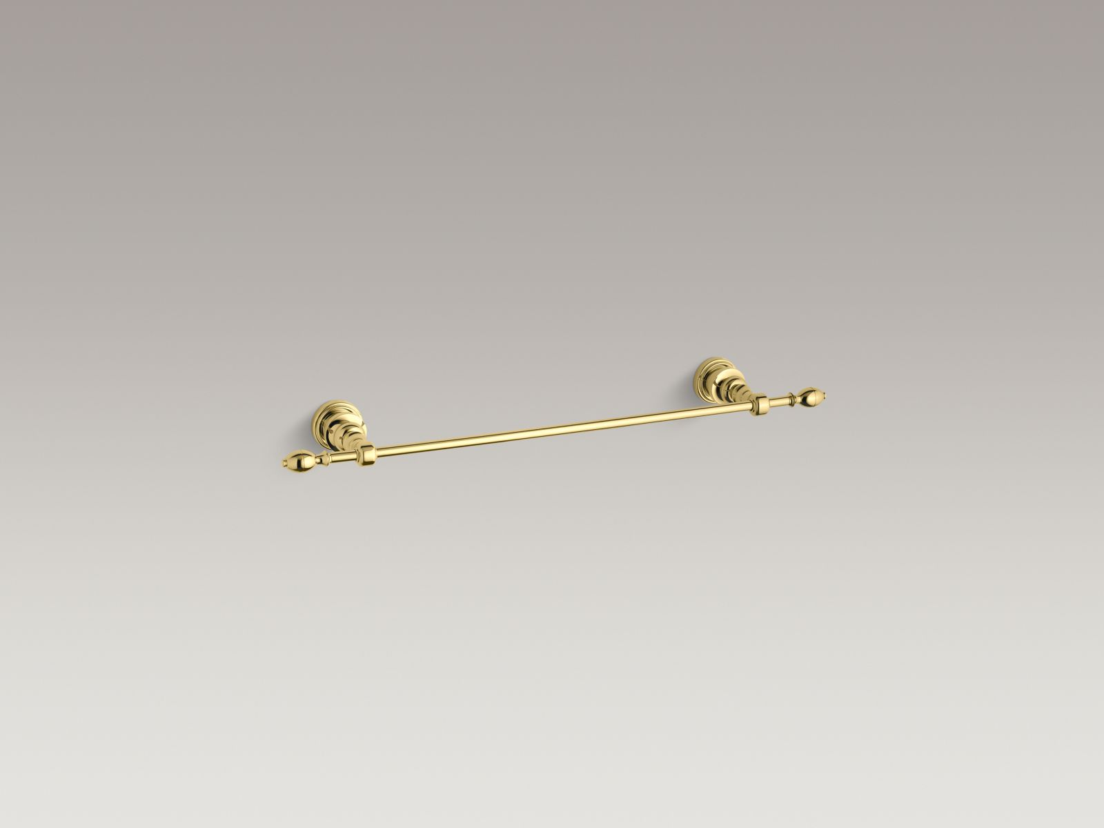 "Kohler K-6816-PB IV Georges Brass 18"" Towel Bar Vibrant Polished Brass"