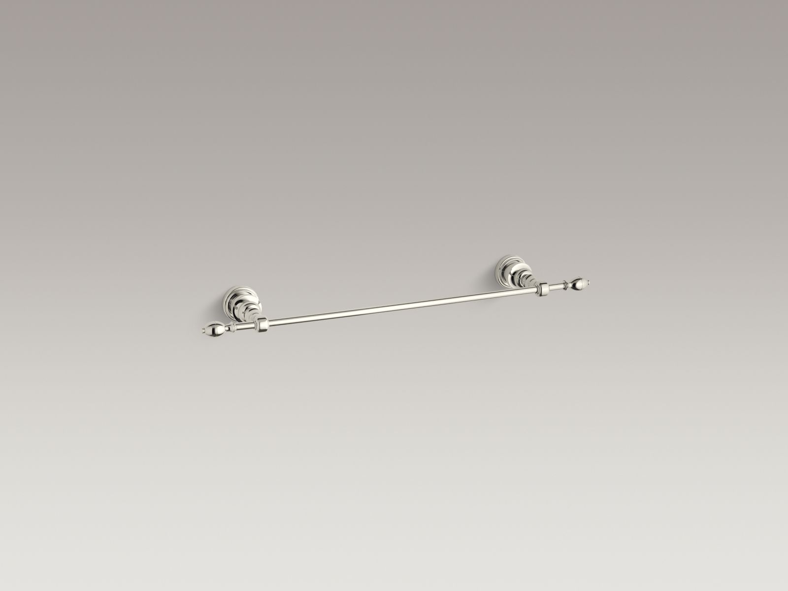 """Kohler K-6816-SN IV Georges Brass 18"""" Towel Bar Vibrant Polished Nickel"""