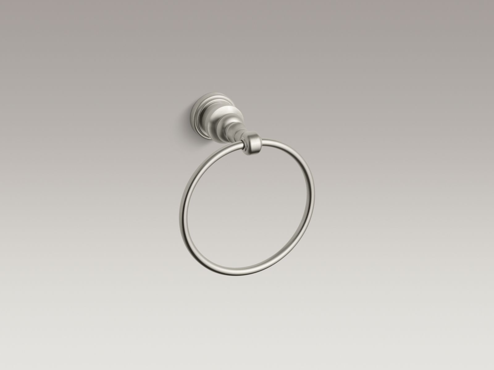 Kohler K-6817-BN IV Georges Brass Towel Ring Vibrant Brushed Nickel