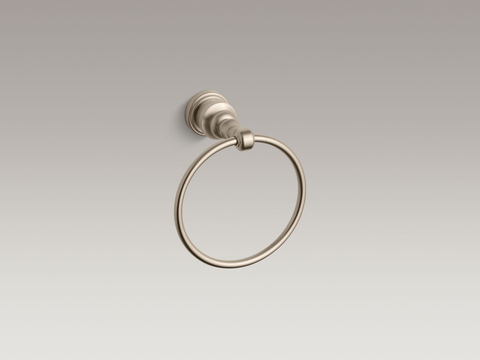 Kohler K-6817-BV IV Georges Brass Towel Ring Vibrant Brushed Bronze