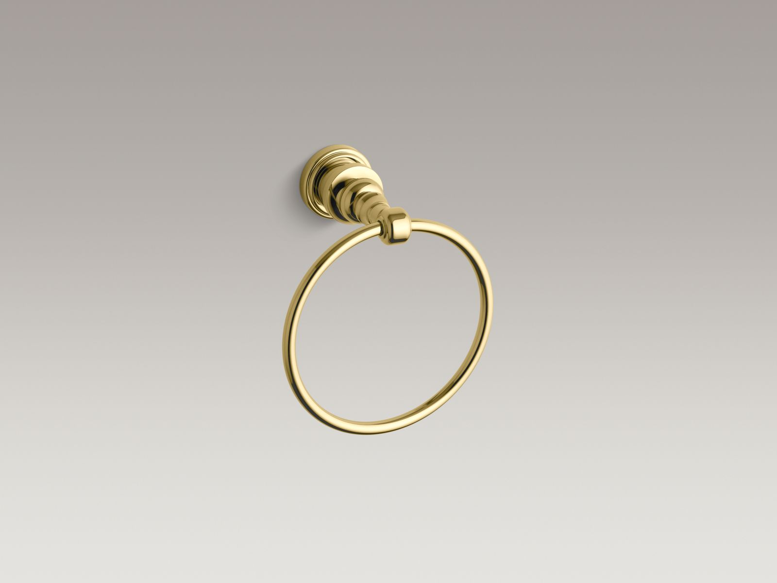 Kohler K-6817-PB IV Georges Brass Towel Ring Vibrant Polished Brass