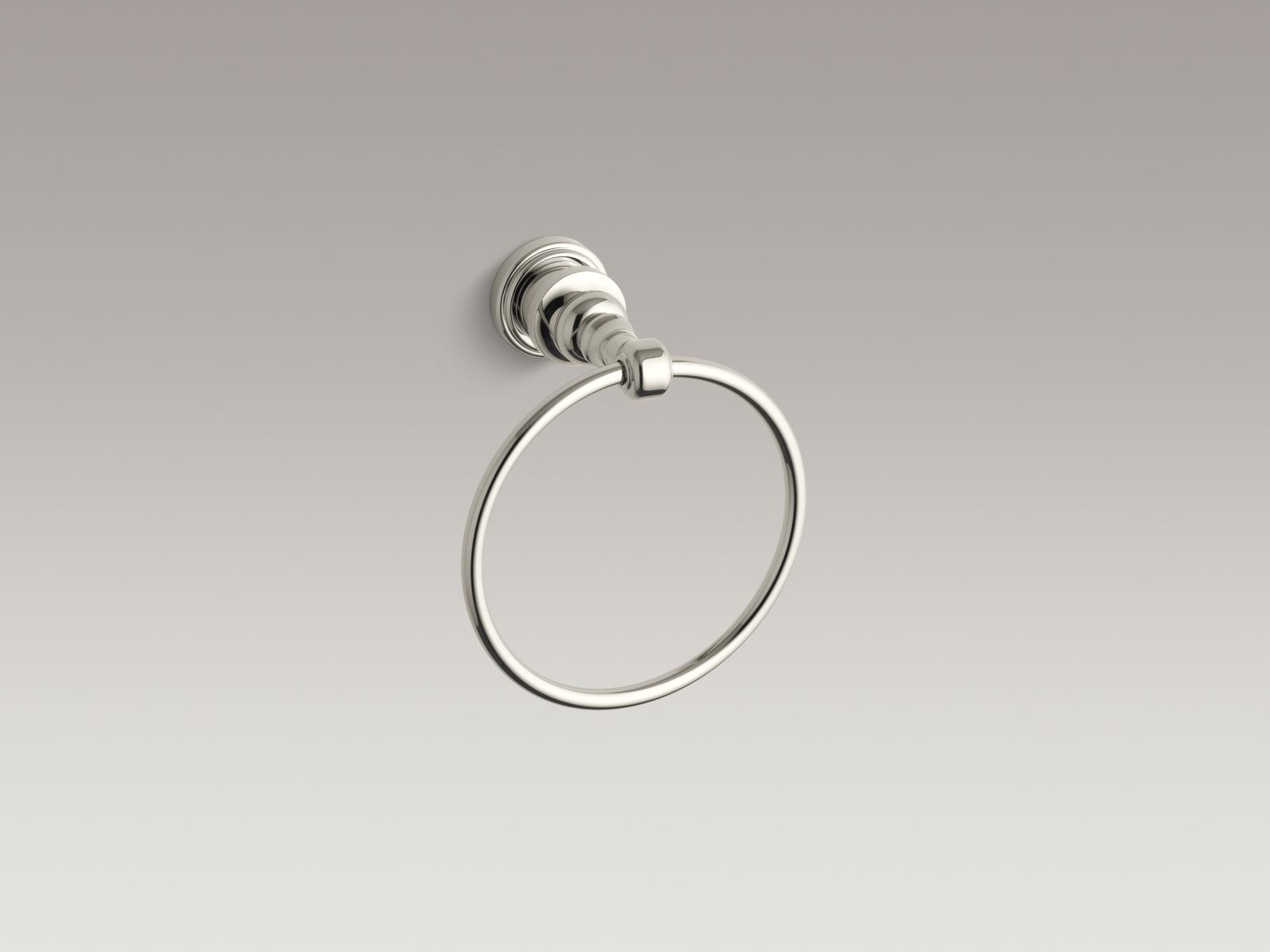 Kohler K-6817-SN IV Georges Brass Towel Ring Vibrant Polished Nickel