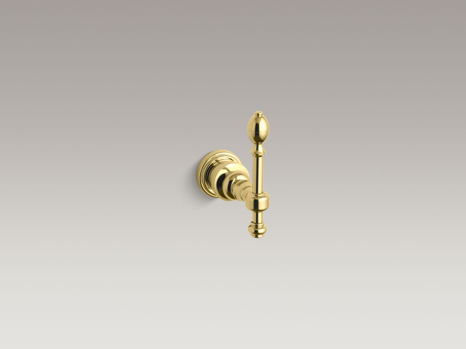 Kohler K-6821-PB IV Georges Brass Robe Hook Vibrant Polished Brass