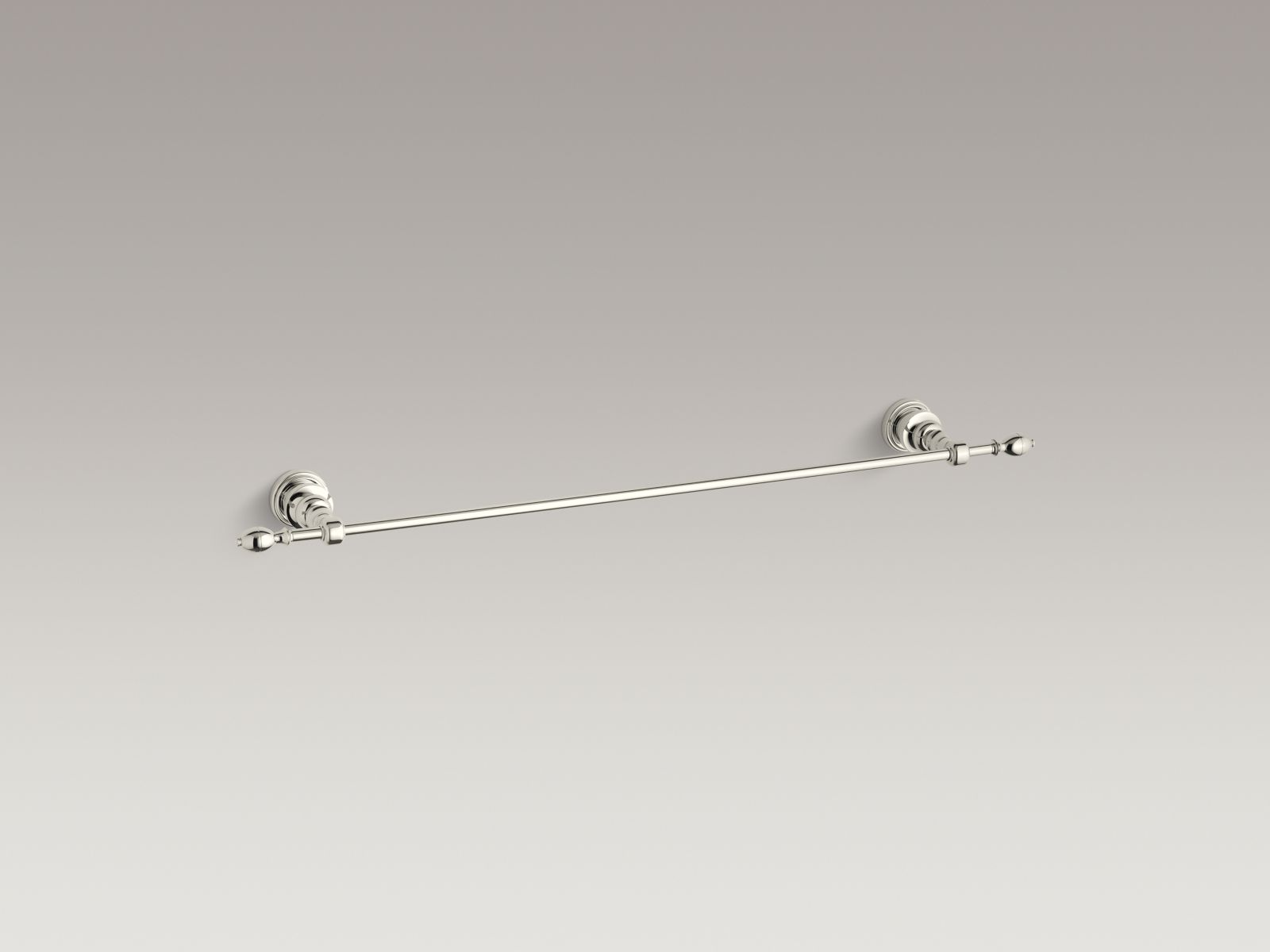 "Kohler K-6826-SN IV Georges Brass 24"" Towel Bar Vibrant Polished Nickel"
