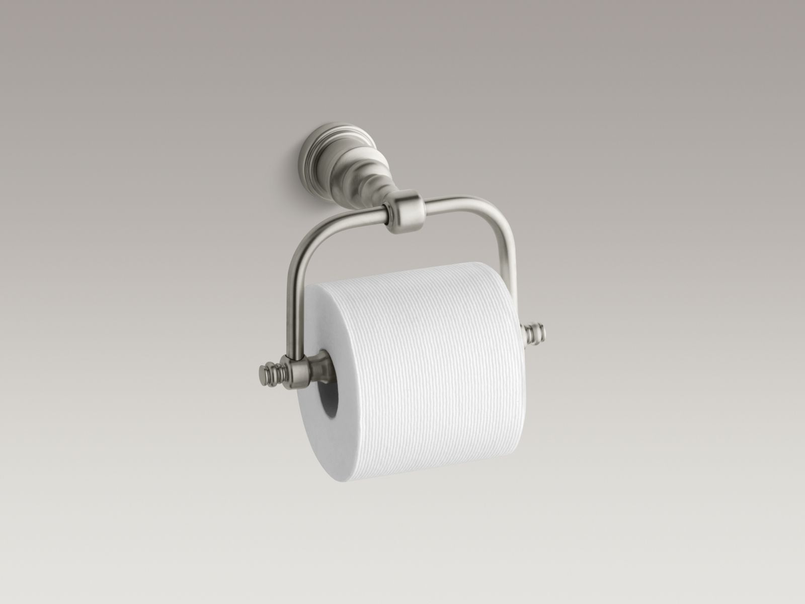 Kohler K-6828-BN IV Georges Brass Horizontal Toilet Tissue Holder Vibrant Brushed Nickel