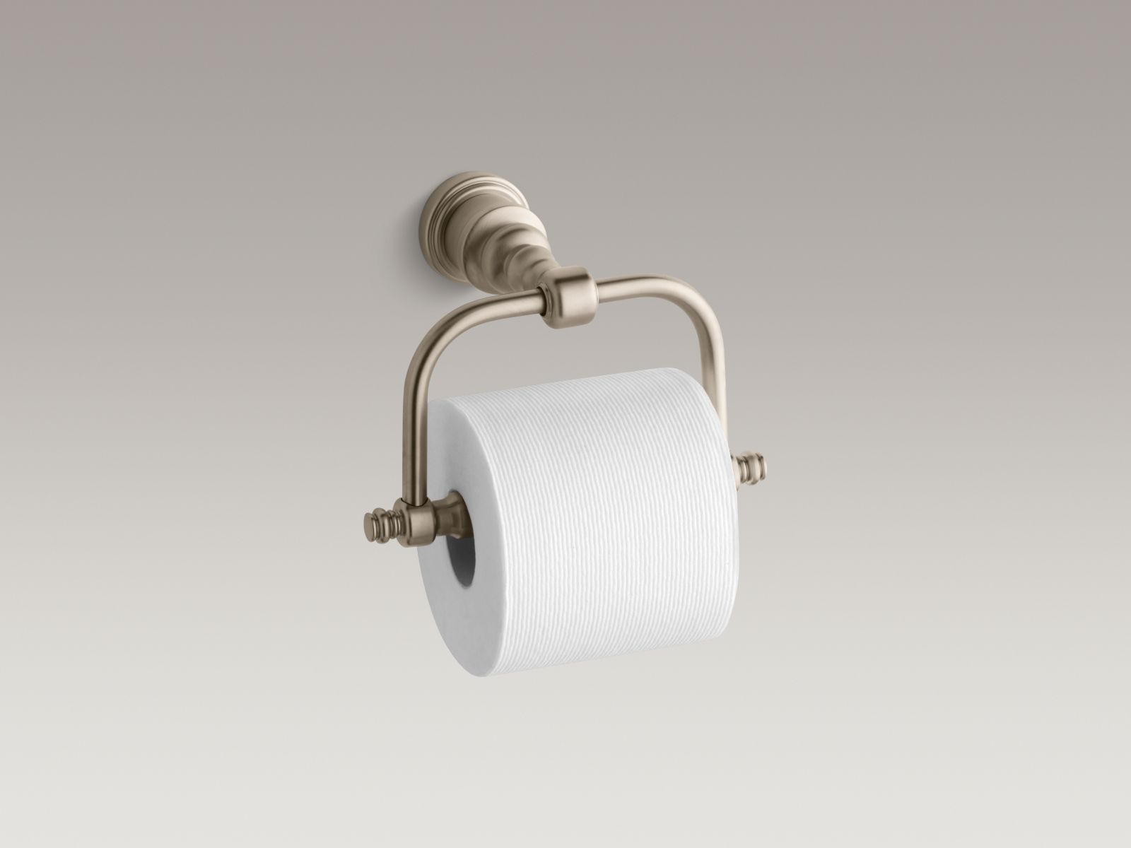 Kohler K-6828-BV IV Georges Brass Horizontal Toilet Tissue Holder Vibrant Brushed Bronze