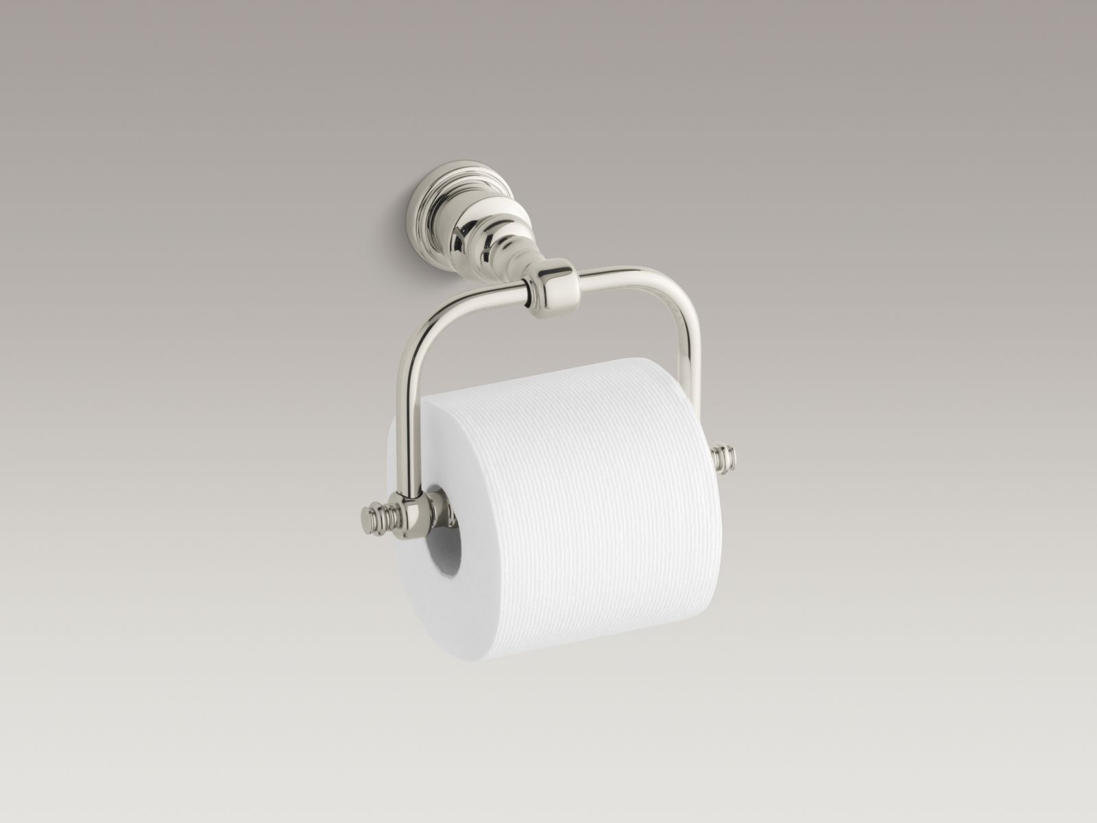 Kohler K-6828-SN IV Georges Brass Horizontal Toilet Tissue Holder Vibrant Polished Nickel