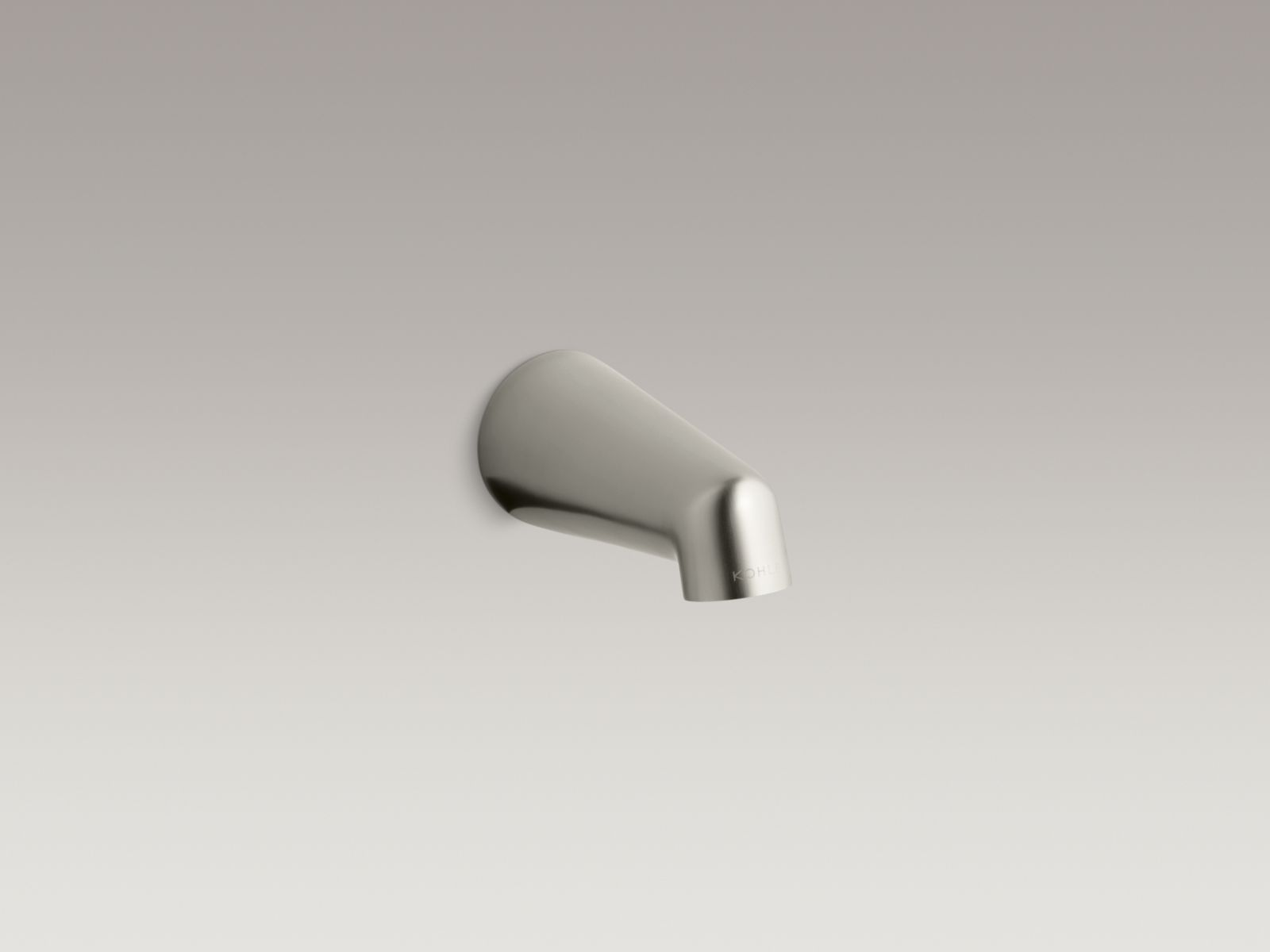 "Kohler K-6854-BN Standard Wall-mounted 5"" Non-diverter Bathtub Spout Vibrant Brushed Nickel"