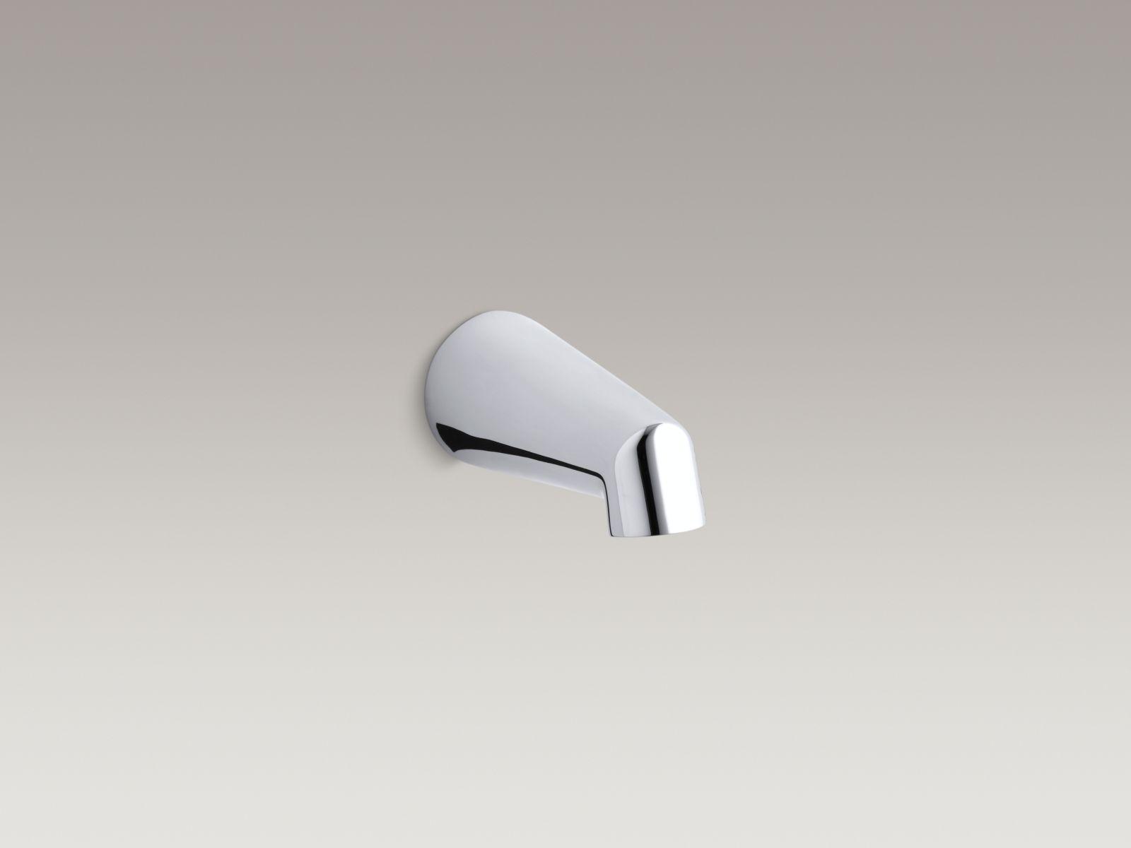 "Kohler K-6854-CP Standard Wall-mounted 5"" Non-diverter Bathtub Spout Polished Chrome"