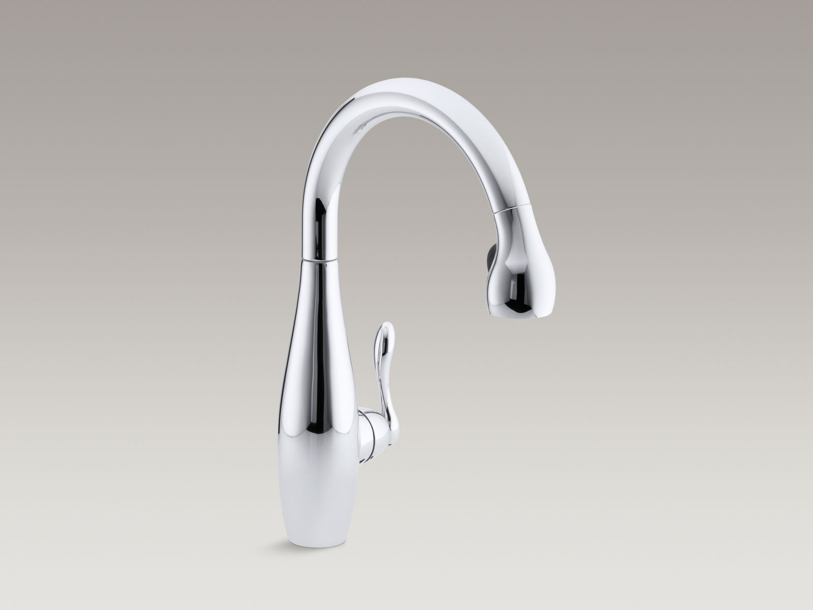 Kohler K  Cp Clairette Kitchen Sink Faucet Polished Chrome