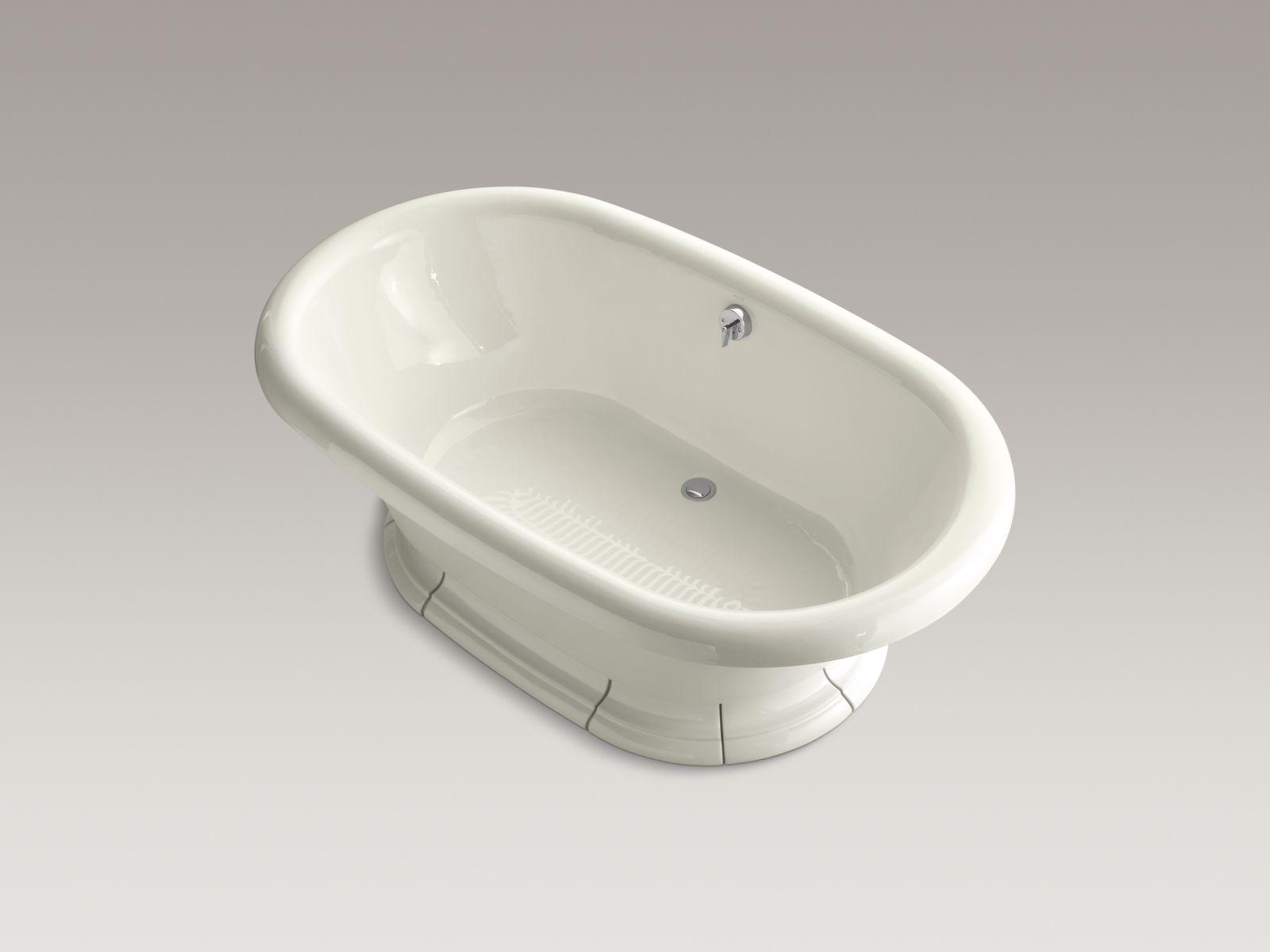 """Kohler K-700-96 Vintage 72"""" Freestanding Soaker Bathtub Biscuit"""