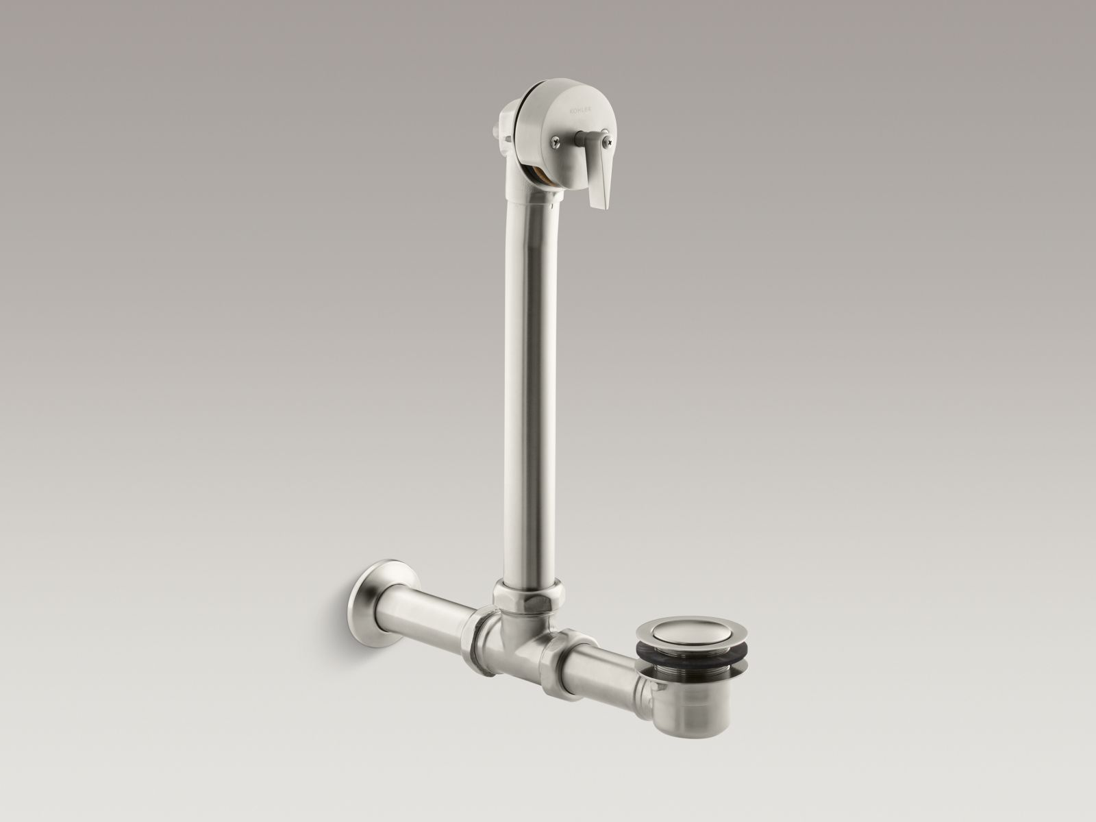 Kohler K-7104-BN Iron Works Exposed Bath Drain for Above-the-Floor Installation Vibrant Brushed Nickel