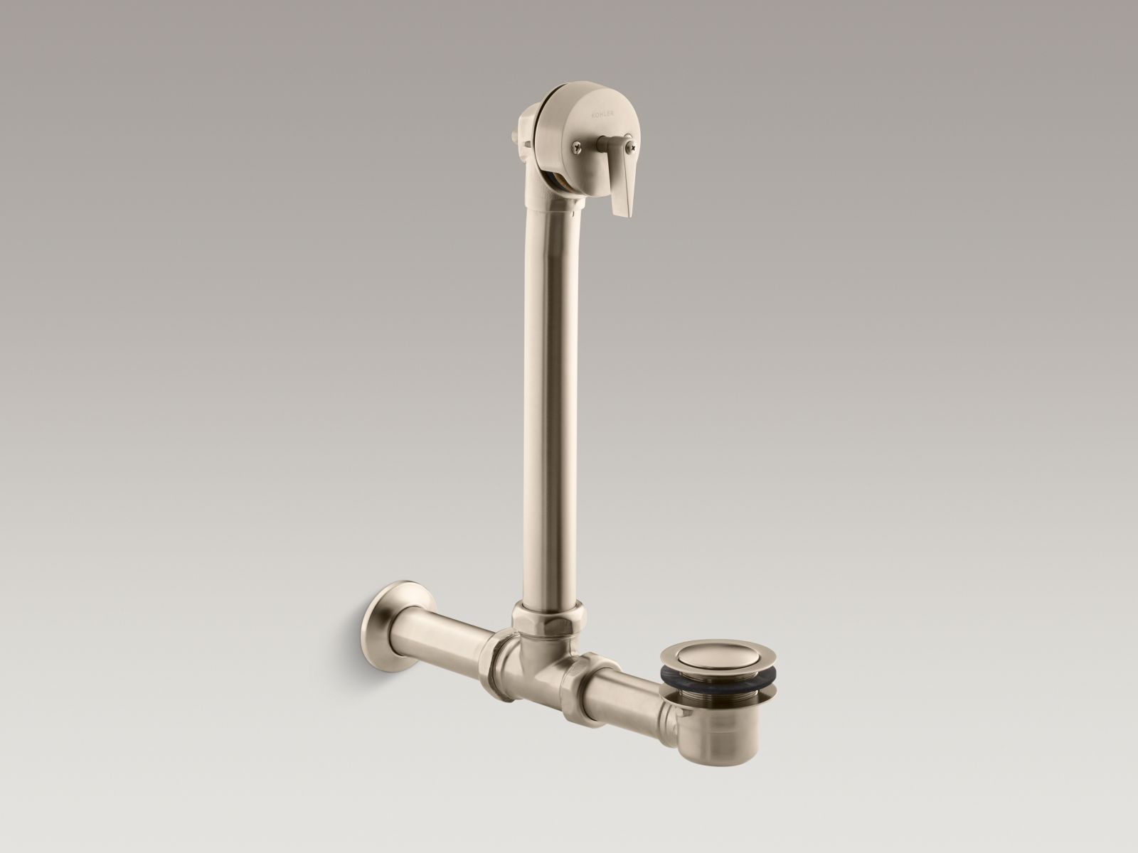Kohler K-7104-BV Iron Works Exposed Bath Drain for Above-The-Floor Installation Vibrant Brushed Bronze