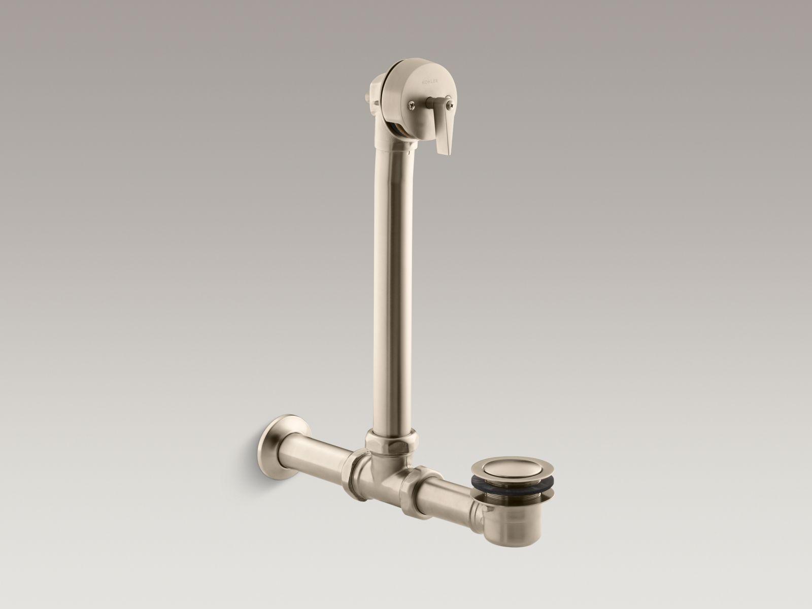 Kohler K-7104-BV Iron Works Exposed Bath Drain for Above-The-Floor Installation Vibrant Brushed Bronze