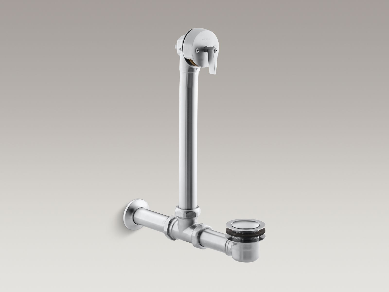 Kohler K-7104-G Iron Works Exposed Bath Drain for Above-The-Floor Installation Brushed Chrome