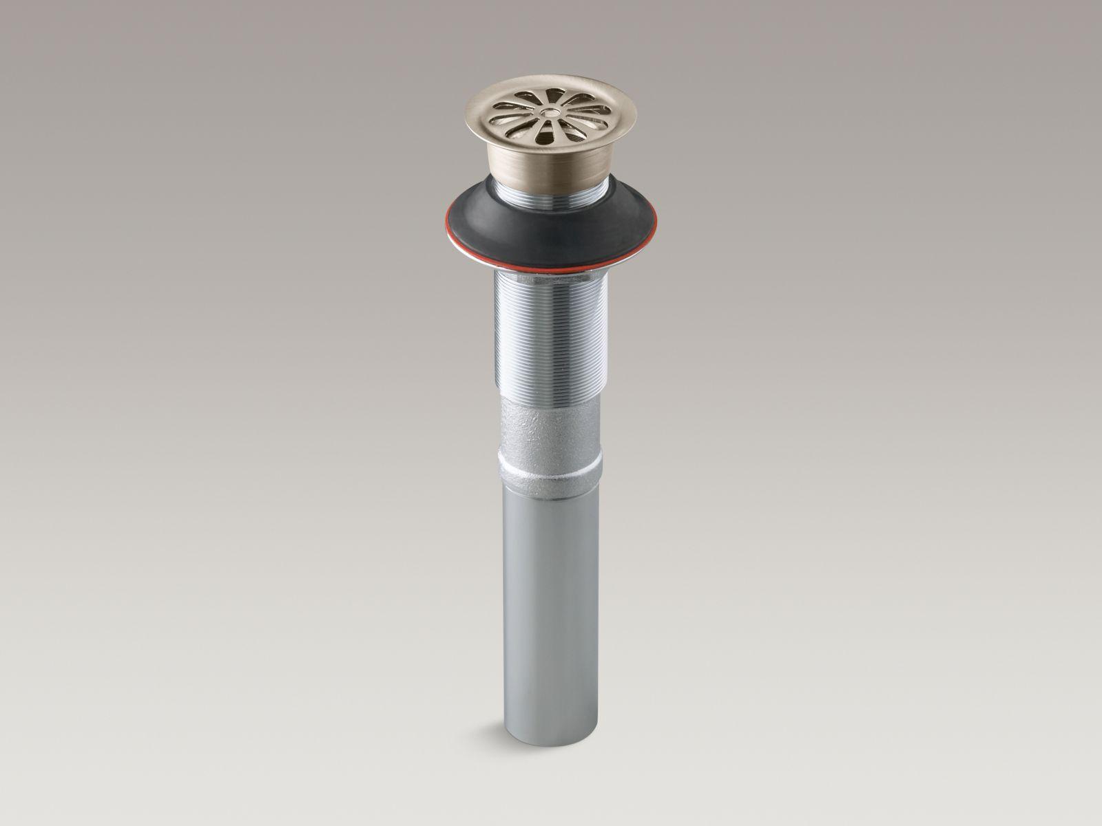 Kohler K-7129-BV Bathroom Sink Grid Drain without Overflow Vibrant Brushed Bronze