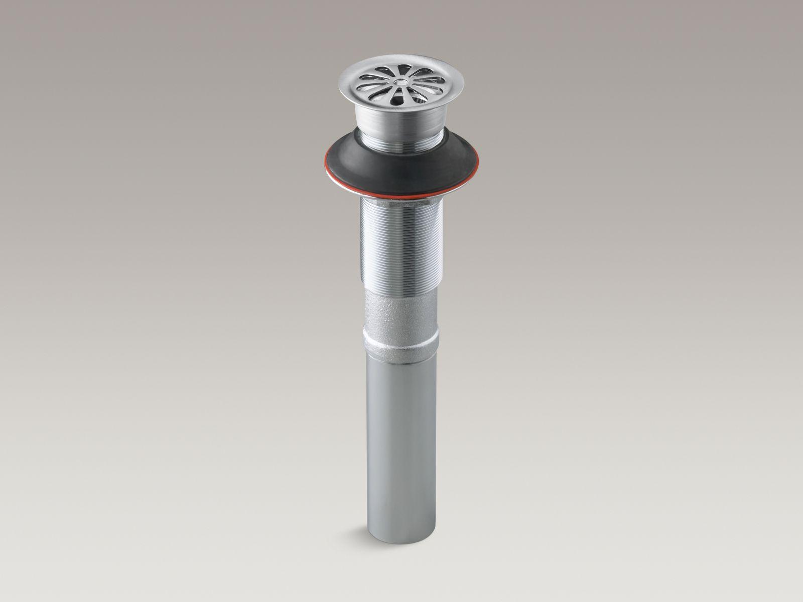 Kohler K-7129-G Bathroom Sink Grid Drain without Overflow Brushed Chrome
