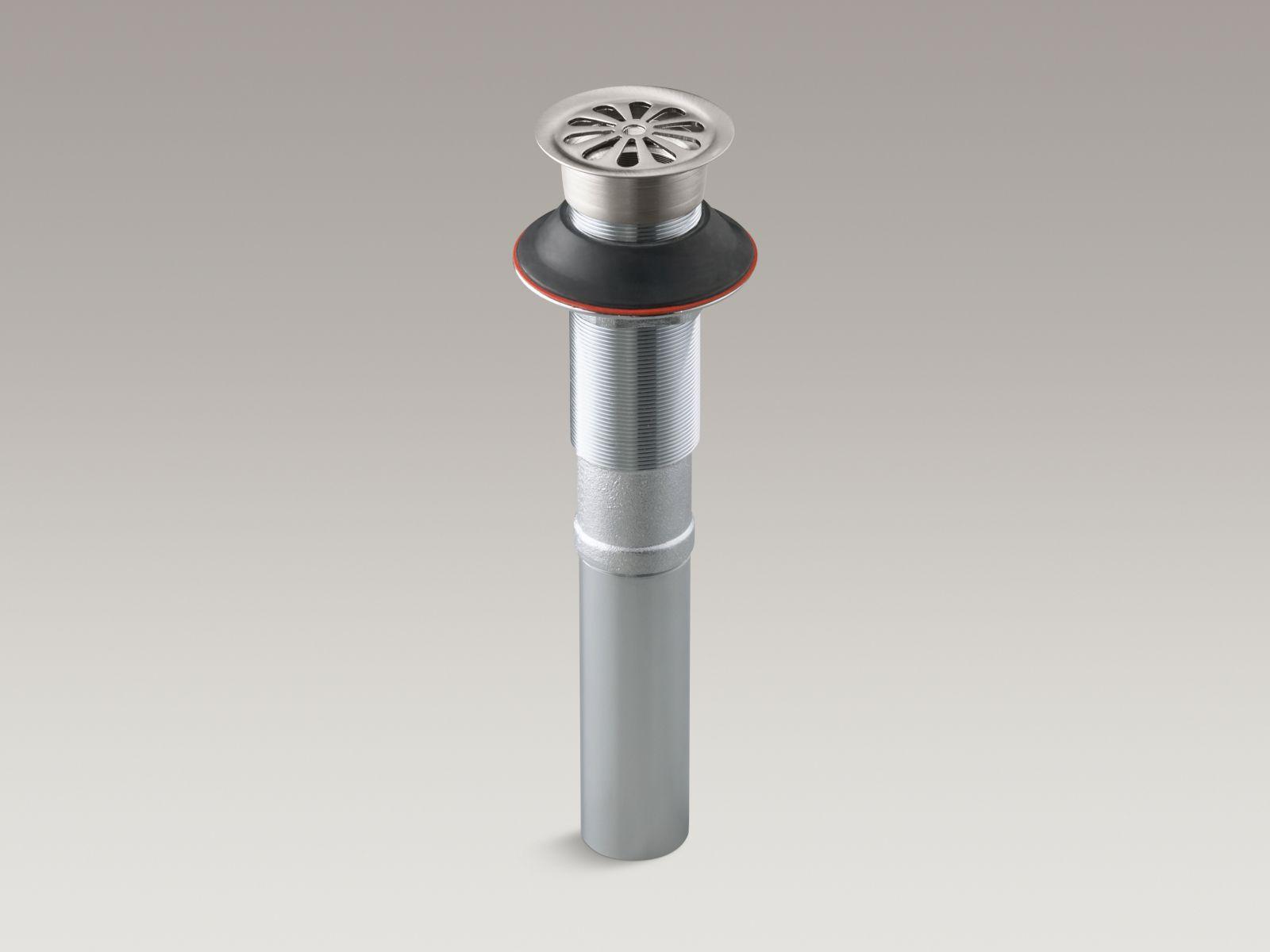 Kohler K-7129-VS Bathroom Sink Grid Drain without Overflow Vibrant Stainless Steel