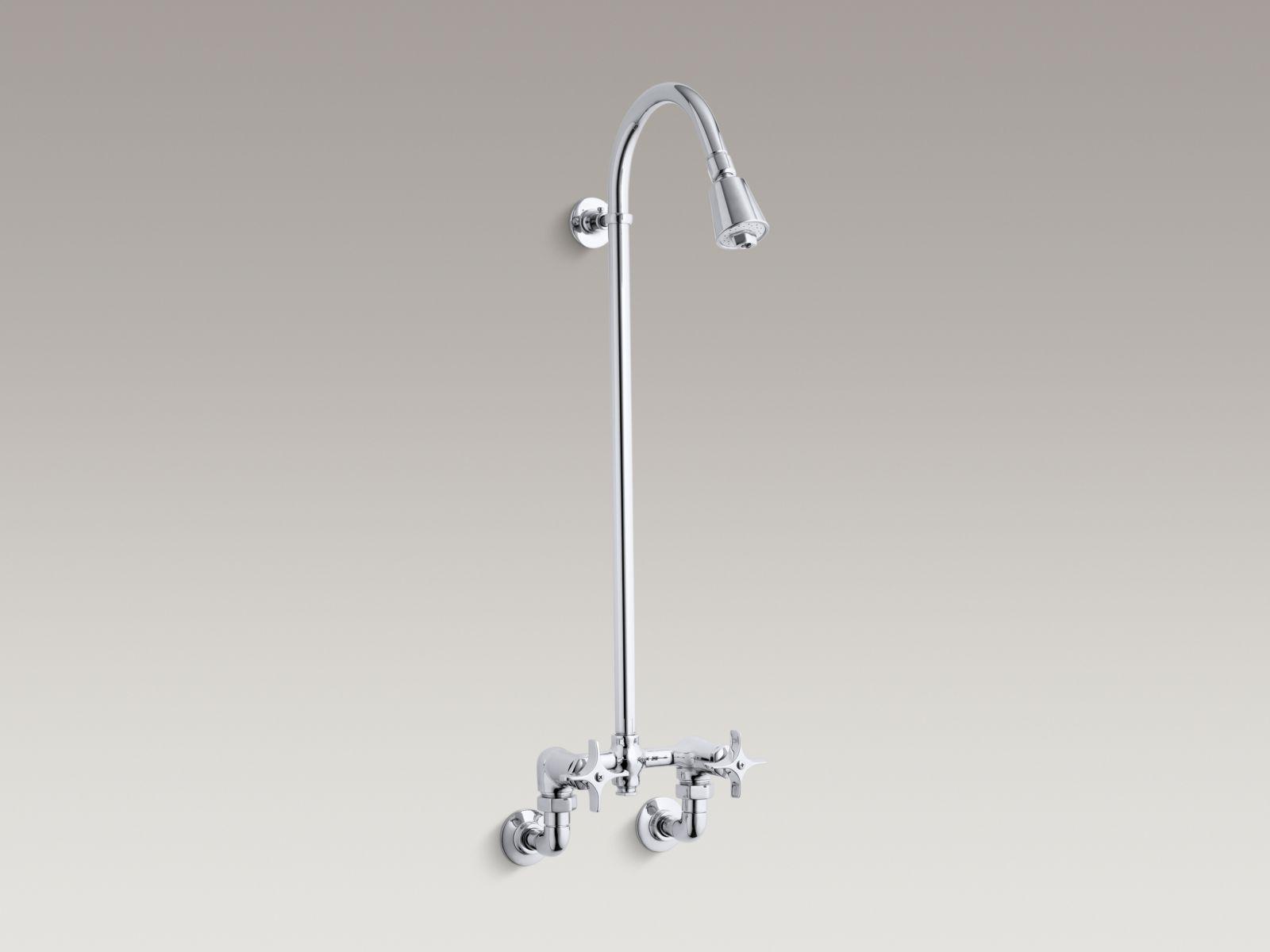 Kohler K-7252-CP Industrial Exposed Shower Polished Chrome