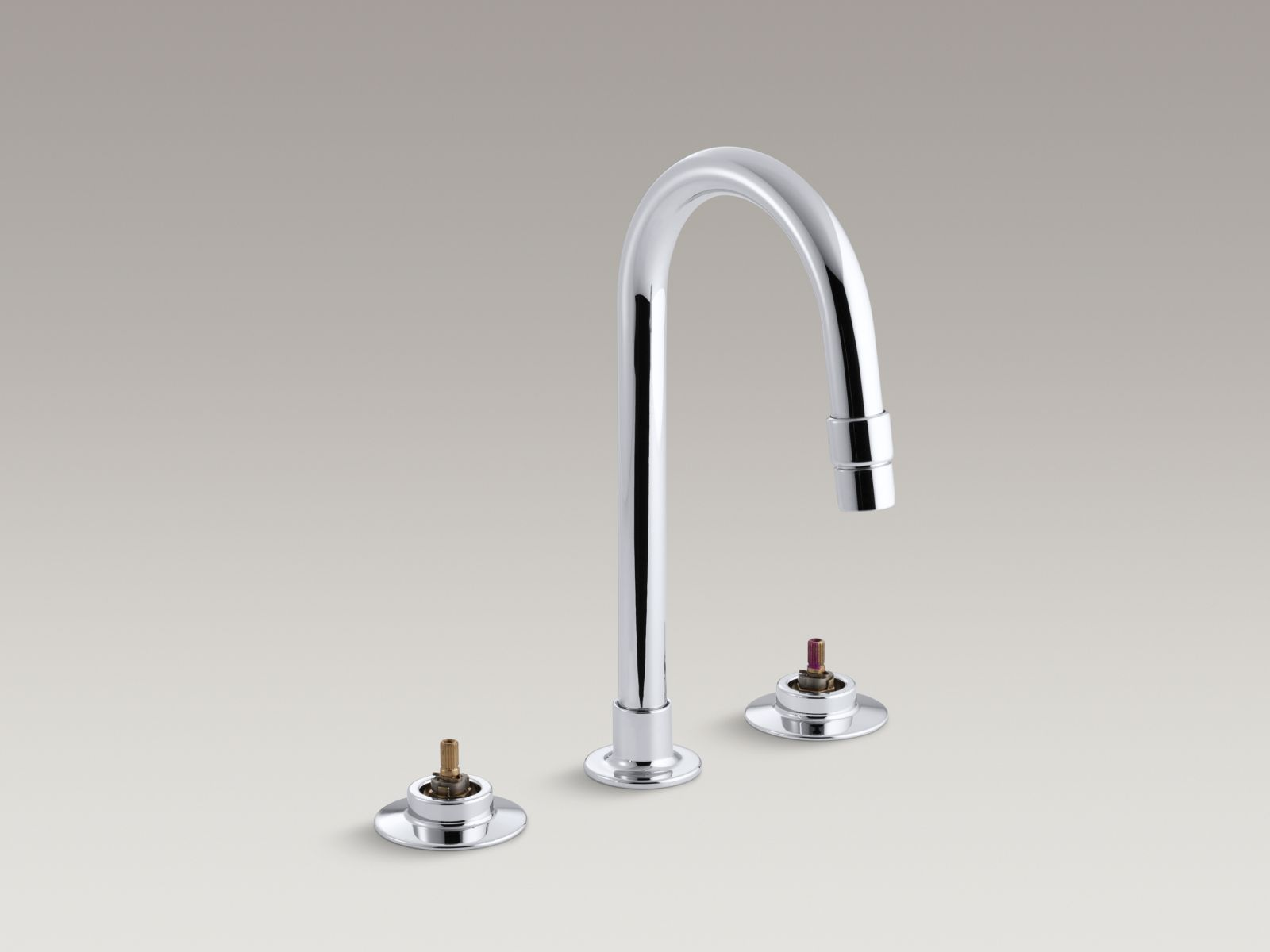 Kohler K-7303-K-CP Triton Widespread Handle-less Commercial Bathroom Faucet with Rigid Connections and Gooseneck Spout Polished Chrome