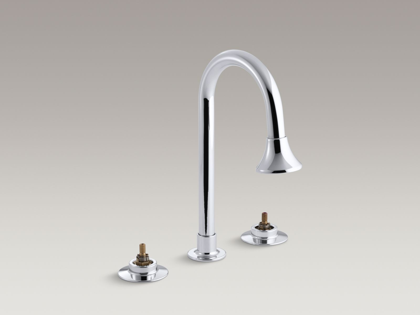 Kohler K-7303-KC-CP Triton Widespread Handle-less Commercial Bathroom Faucet with Rigid Connections and Rosespray Gooseneck Spout Polished Chrome