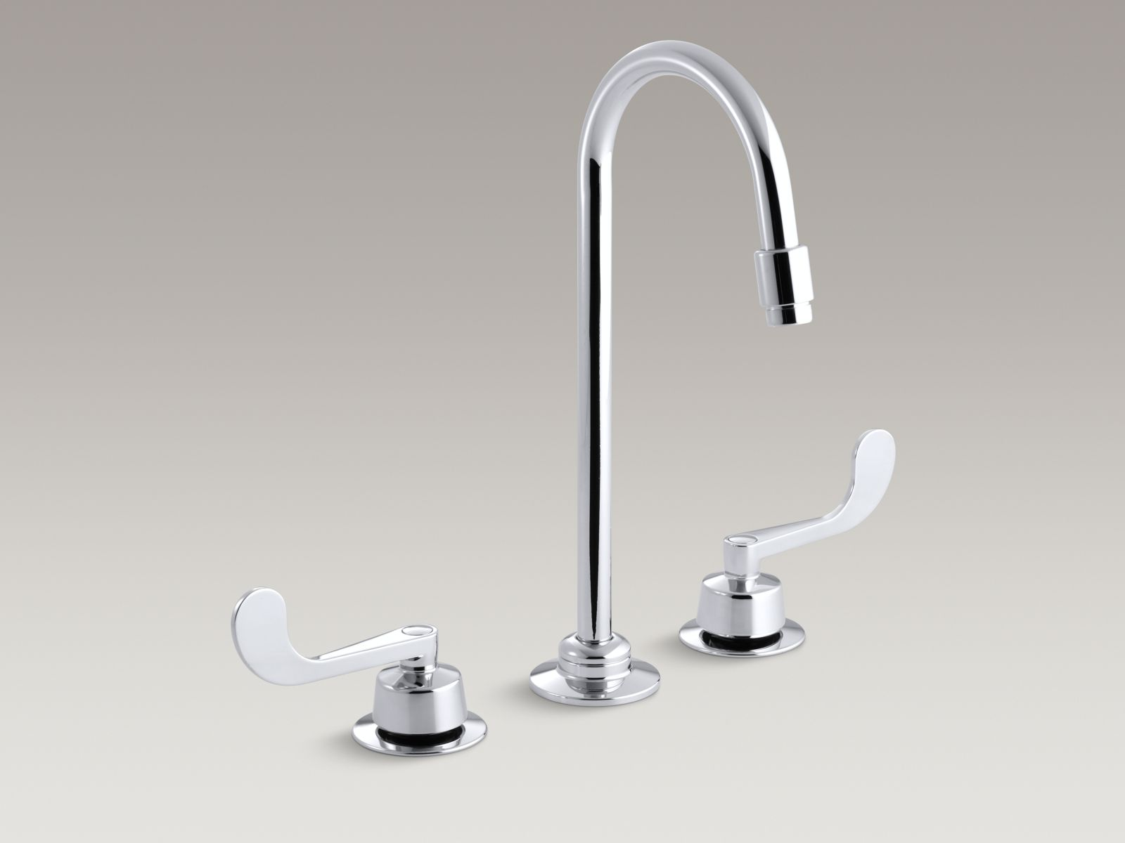 Kohler K 7304 5A CP Triton Widespread Commercial Bathroom Faucet With  Flexible Connections
