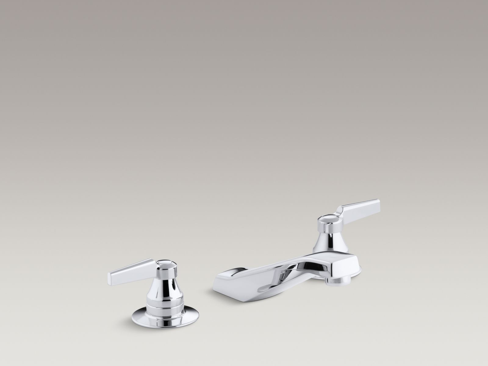 Kohler K-7307-KE-CP Triton Widespread Handle-less Low-arc Commercial Bathroom Faucet with Rigid Connections and Vandal-resistant Aerator Polished Chrome