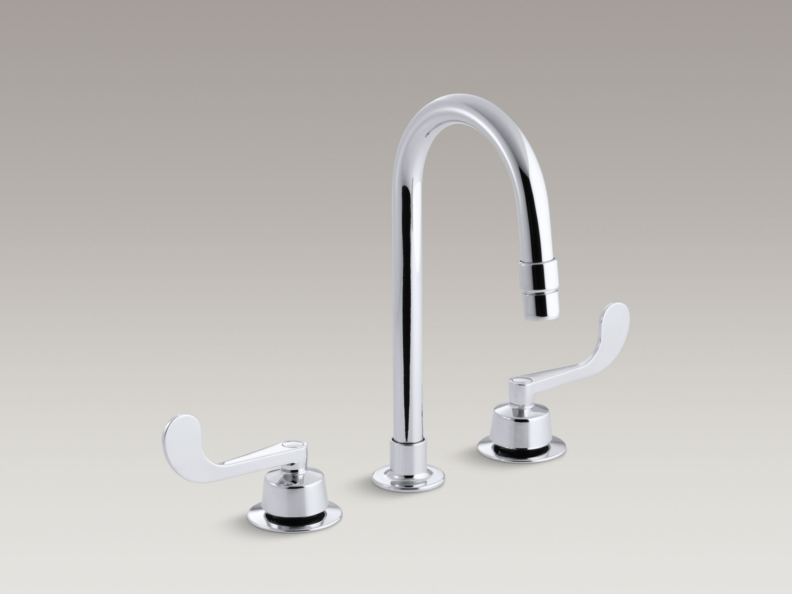 Kohler K-7313-KE-CP Triton Widespread Handle-less Commercial Bathroom Sink with Vandal-resistant Gooseneck Spout and Rigid Connections Polished Chrome