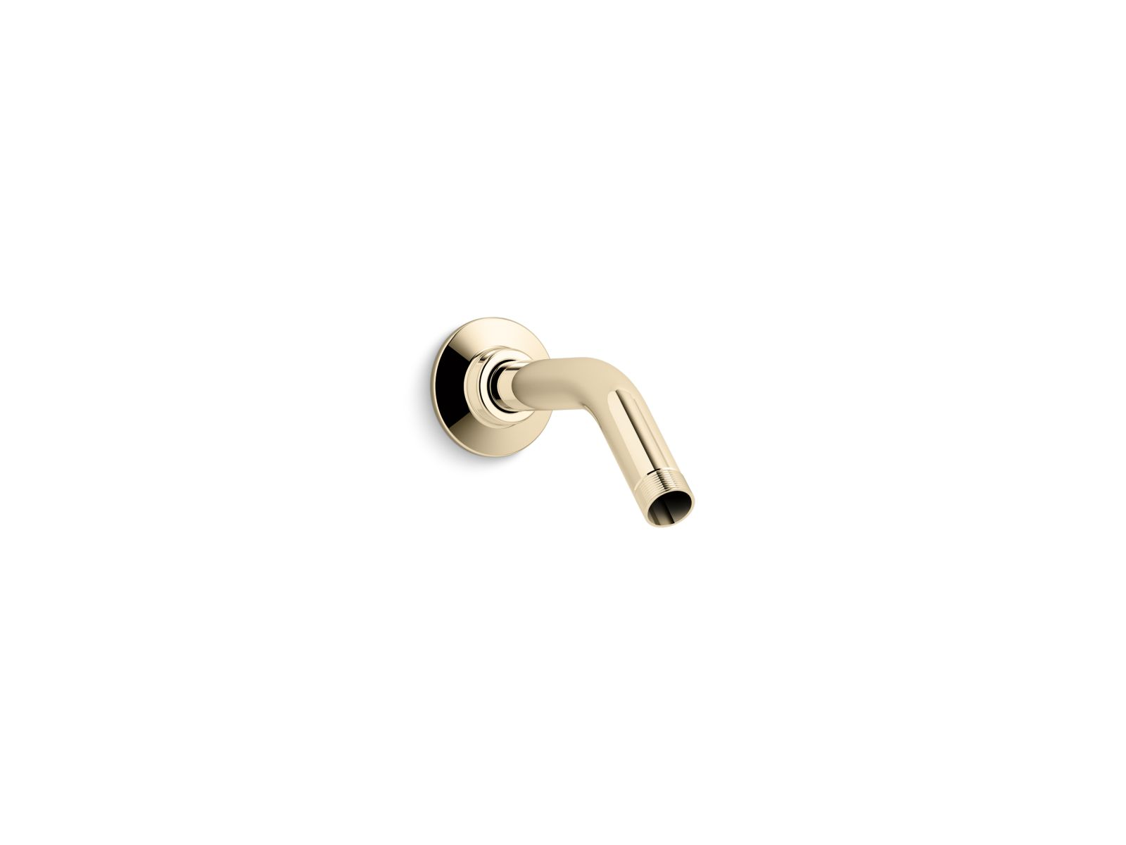 "Kohler MasterShower® K-7395-AF Showerarm and flange, 5-3/8"" long Vibrant French Gold"