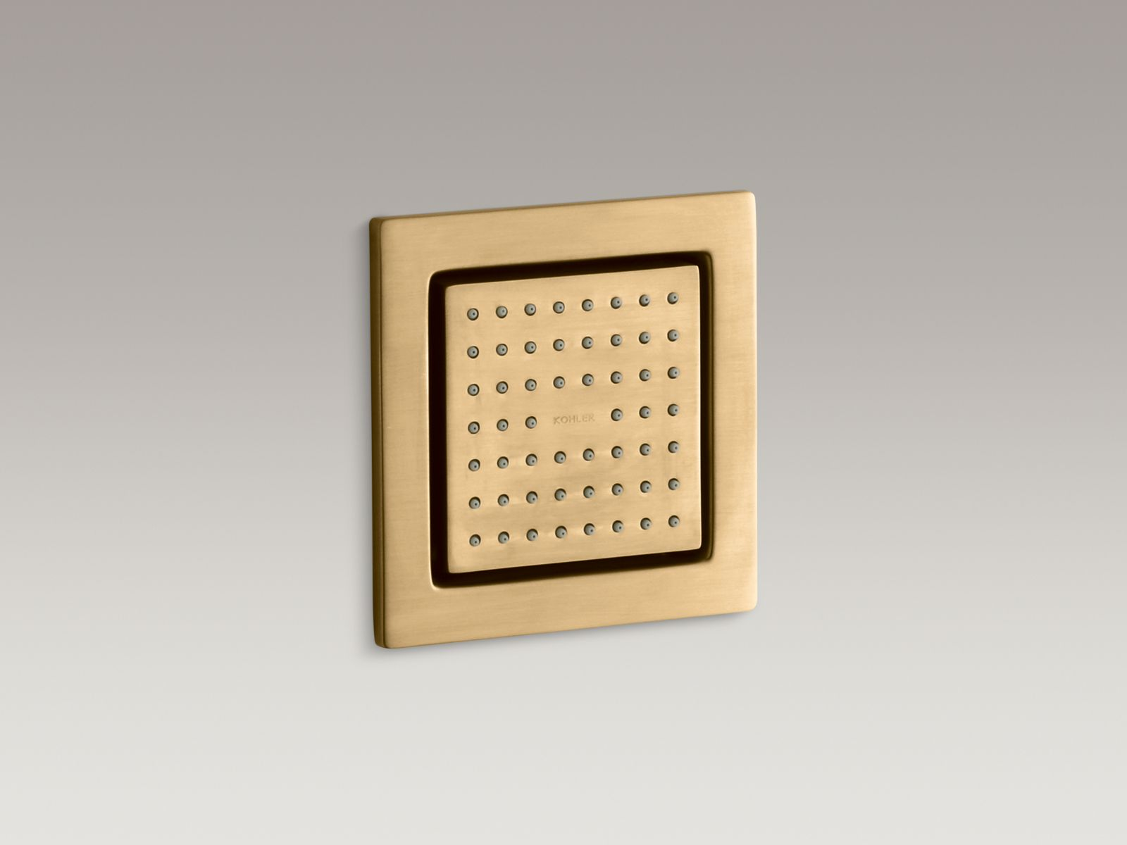 Kohler K-8002-BGD WaterTile Square 54-nozzle Bodyspray with Soothing Spray Moderne Brushed Gold