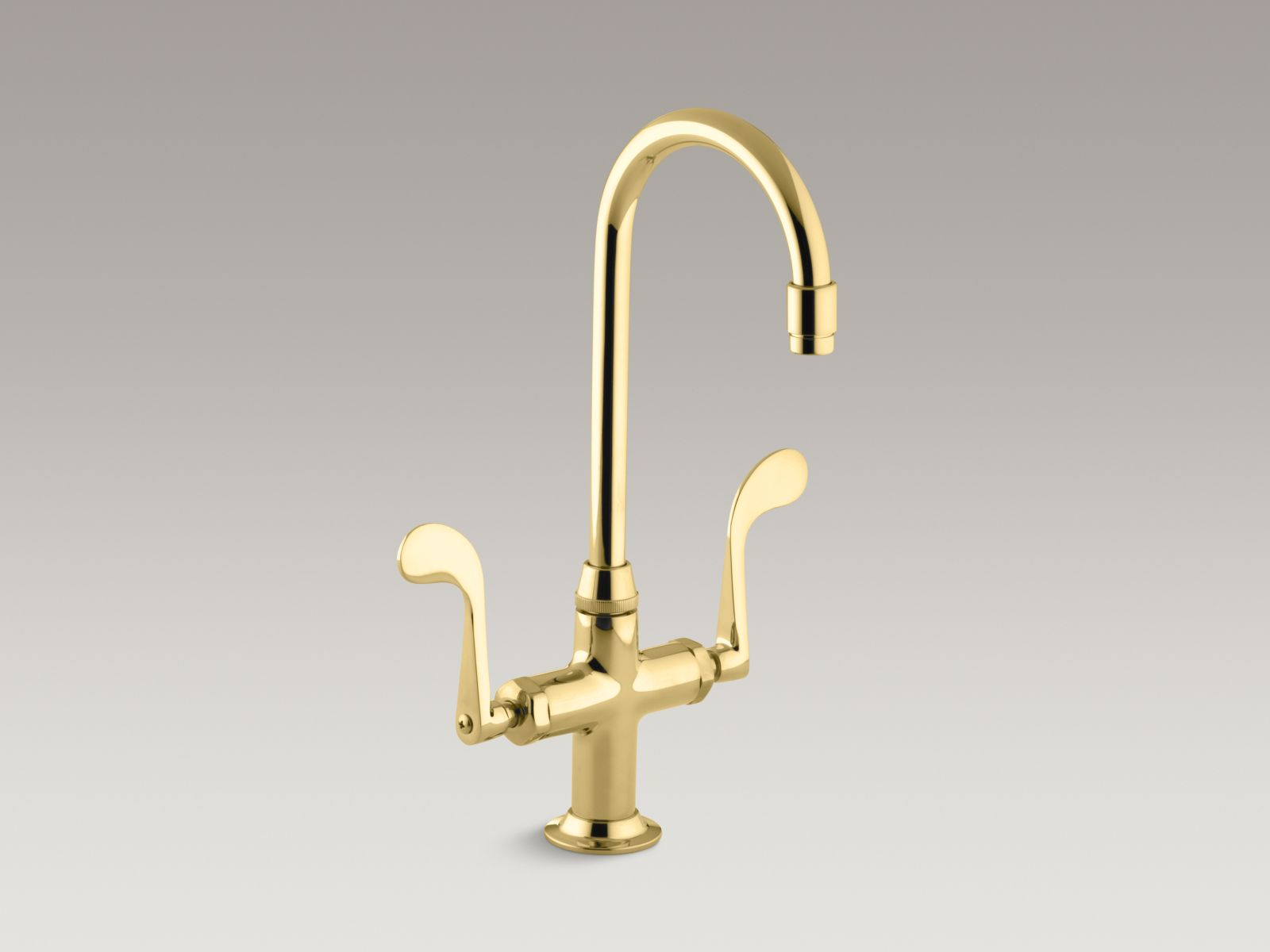 Kohler K-8761-PB Essex Entertainment Sink Faucet Vibrant Polished Brass