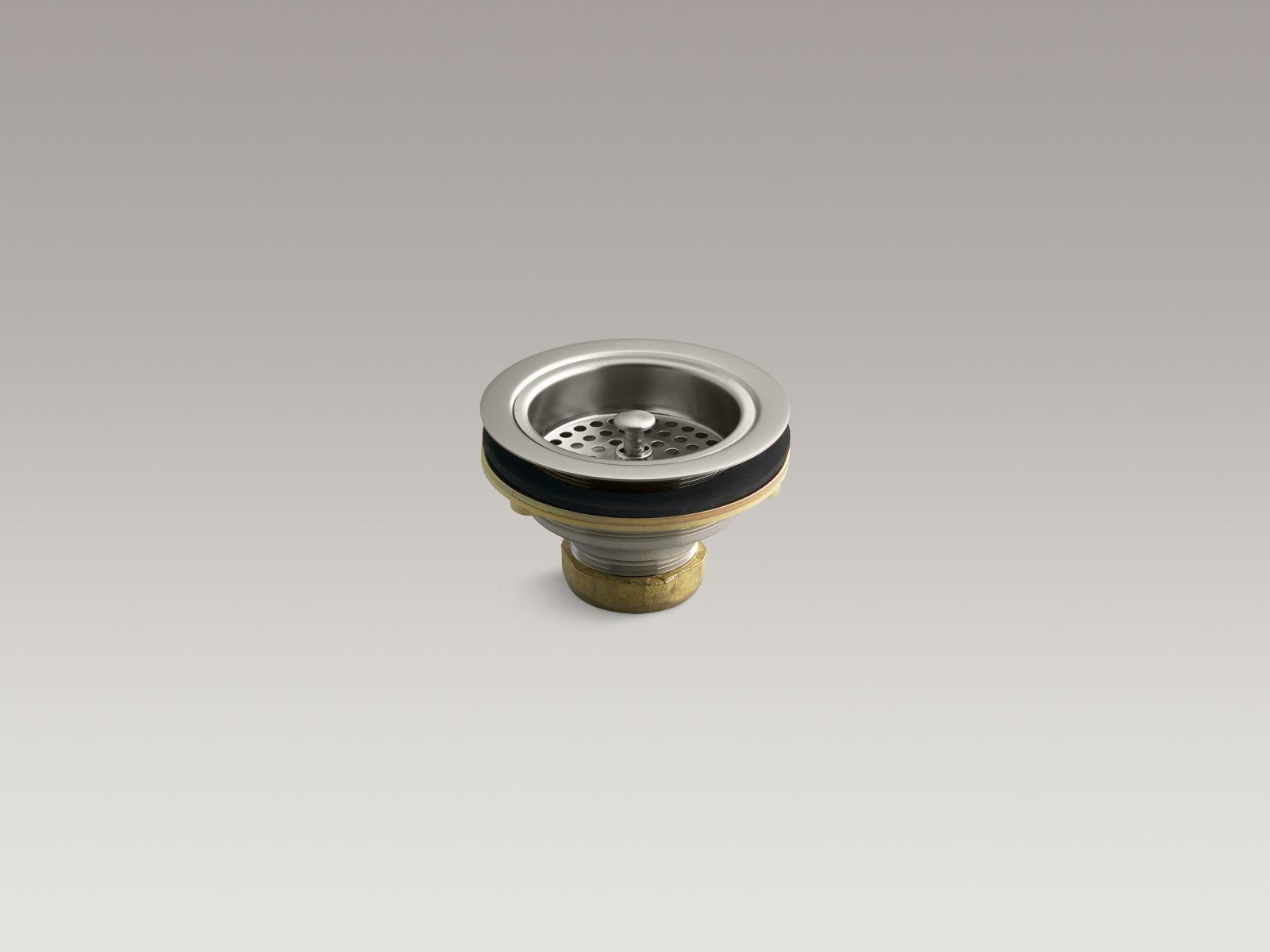 Kohler K-8799-BN Sink Strainer - Less Tail Piece, Brushed Nickel
