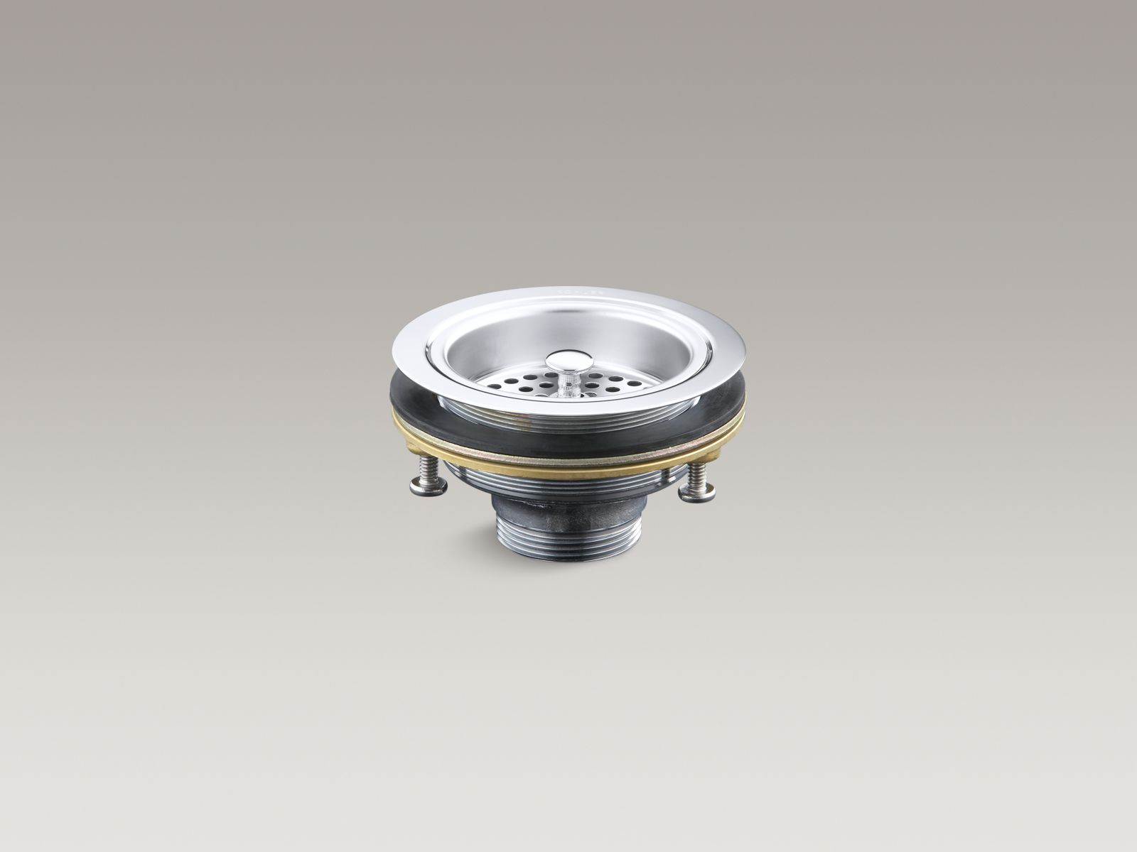 Kohler K-8799-CP Sink Strainer - Less Tail Piece, Polished Chrome