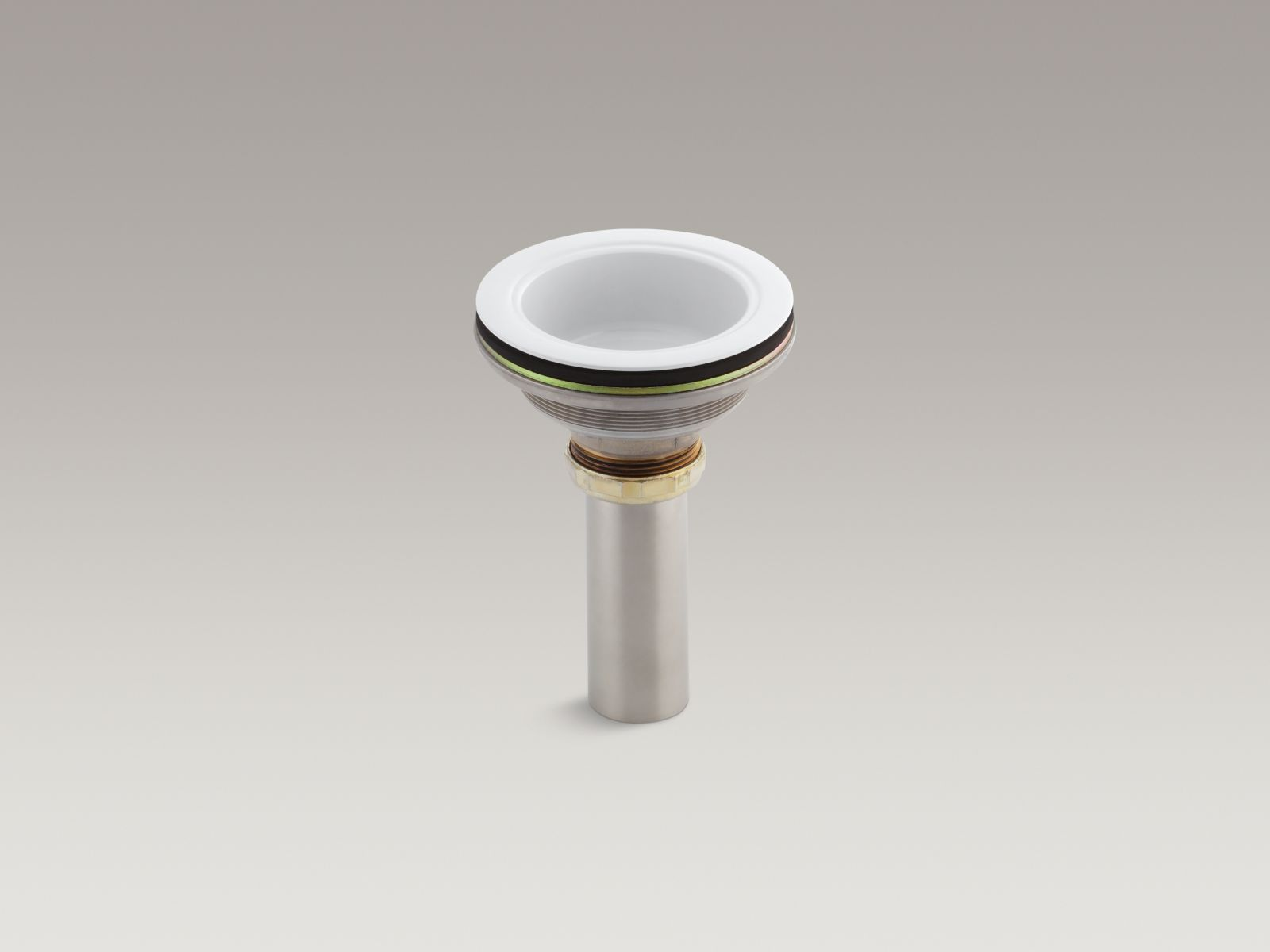 Kohler K-8804-0 Body with Tailpiece from Duostrainer Collection, White
