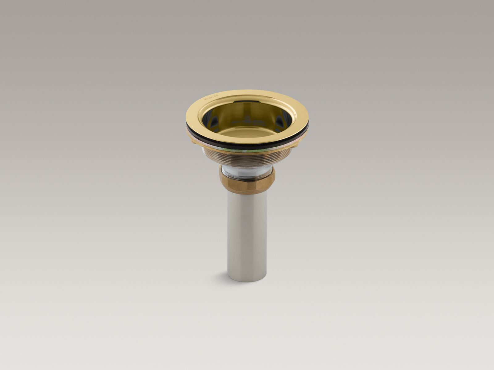 Kohler K-8804-PB Body with Tailpiece from Duostrainer Collection, Polished Brass