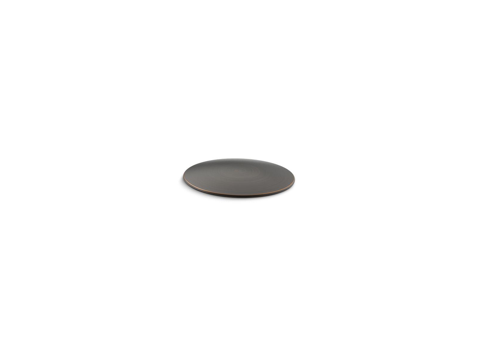 Kohler K-8830-2BZ Kitchen and Bathroom Sink Extra Hole Cover Oil Rubbed Bronze
