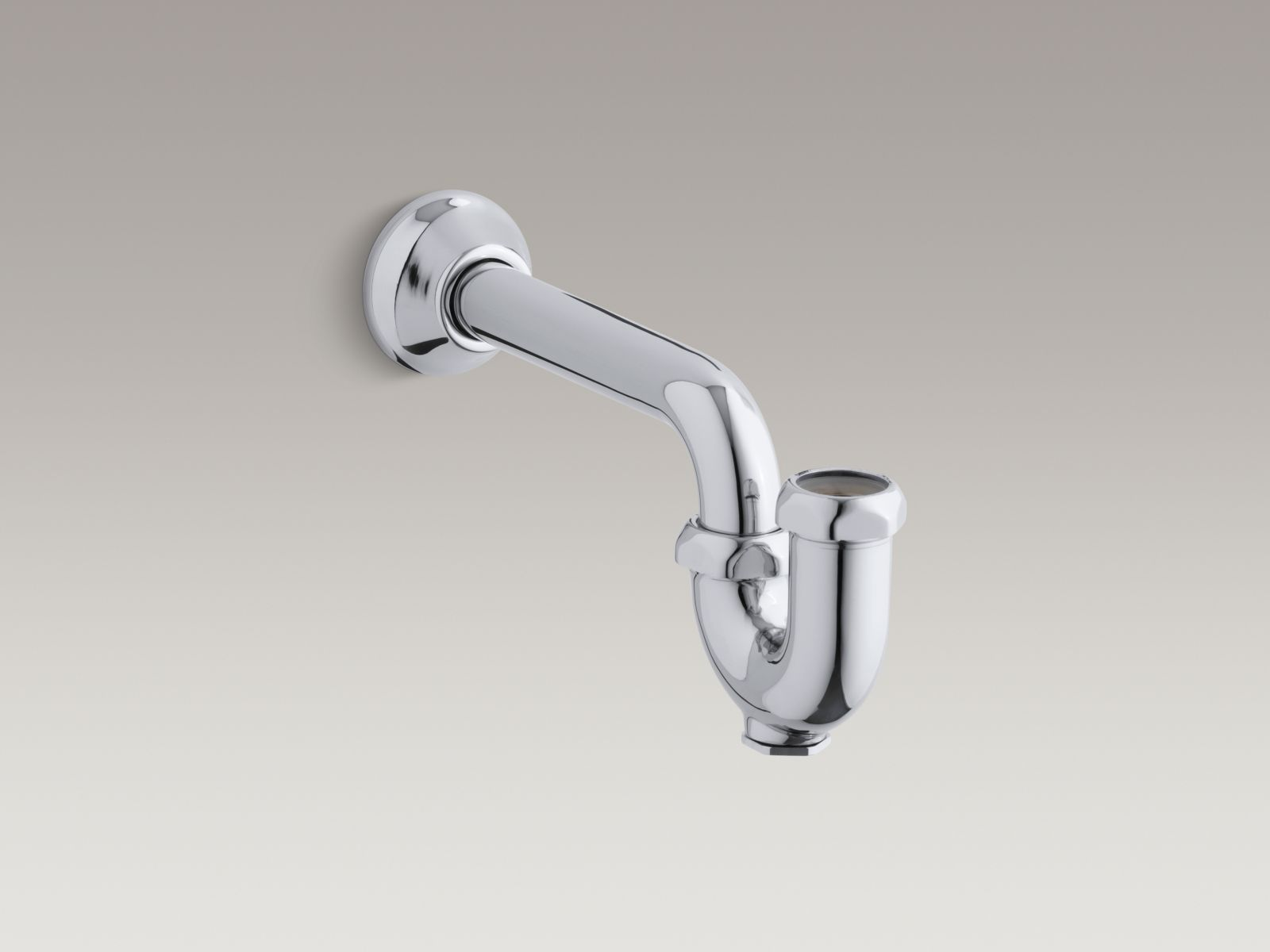 "Kohler K-8998-CP Adjustable 1-1/4"" x 1-1/4"" P-Trap with Tubing Outlet Polished Chrome"