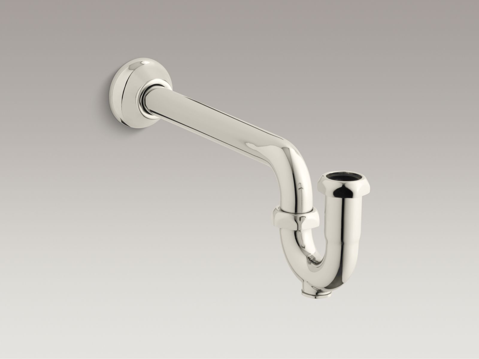 "Kohler K-9018-SN Adjustable 1-1/4"" x 1-1/4"" P-Trap with Long Tubing Outlet Vibrant Polished Nickel"