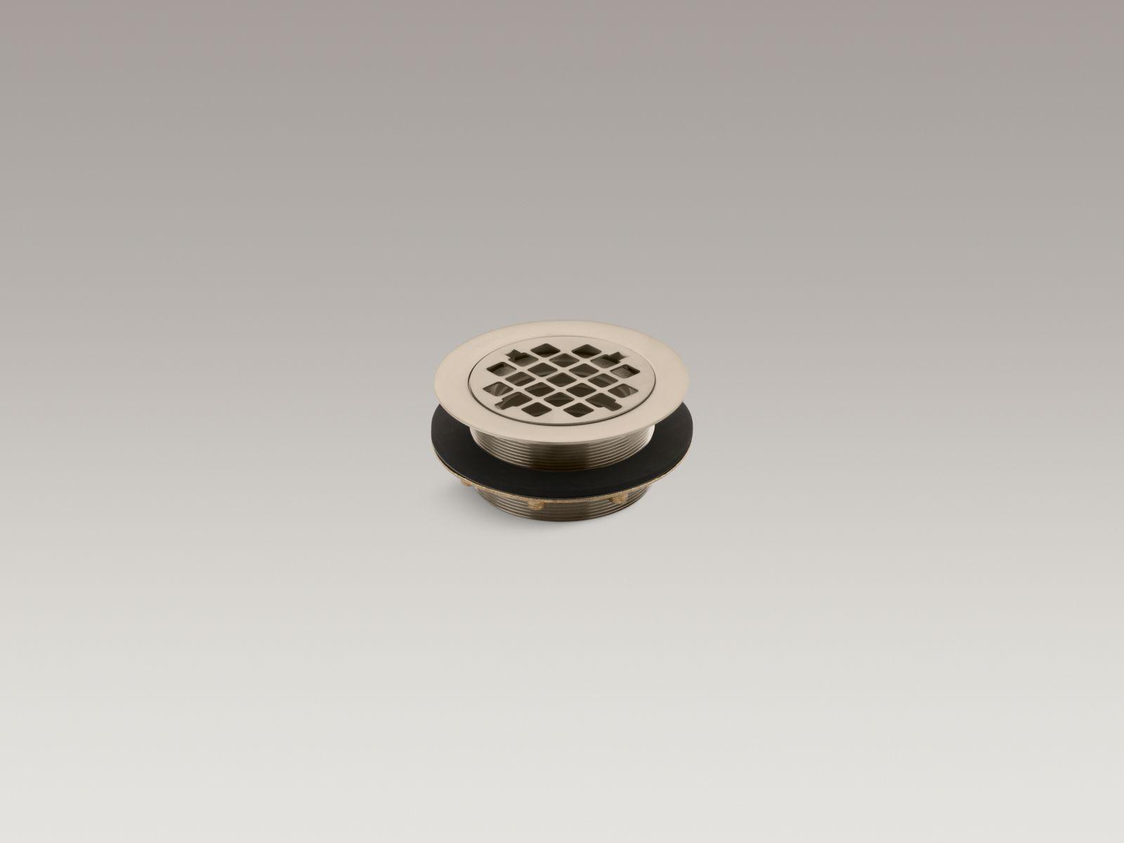 Kohler K-9132-BV Round Shower Base Drain with Plastic Pipe Gasket Vibrant Brushed Bronze