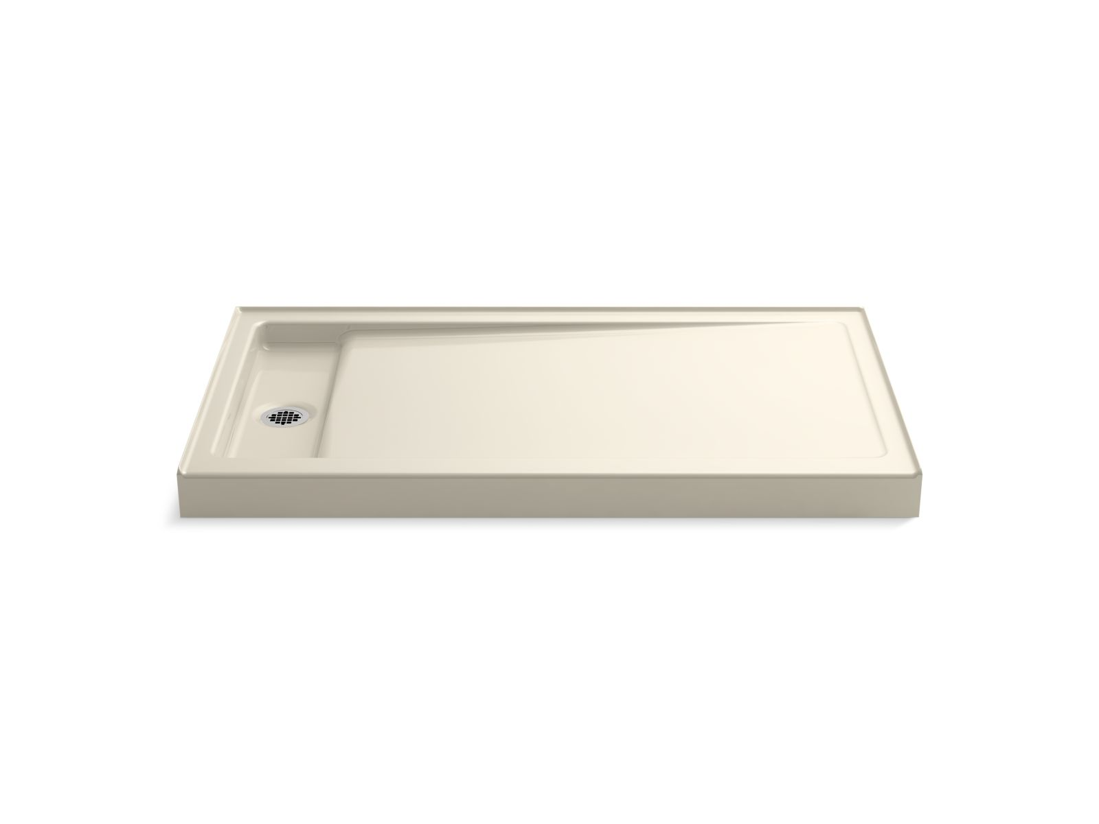 "Kohler Bellwether® K-9177-47 60"" x 34"" single-threshold shower base with left center drain Almond"