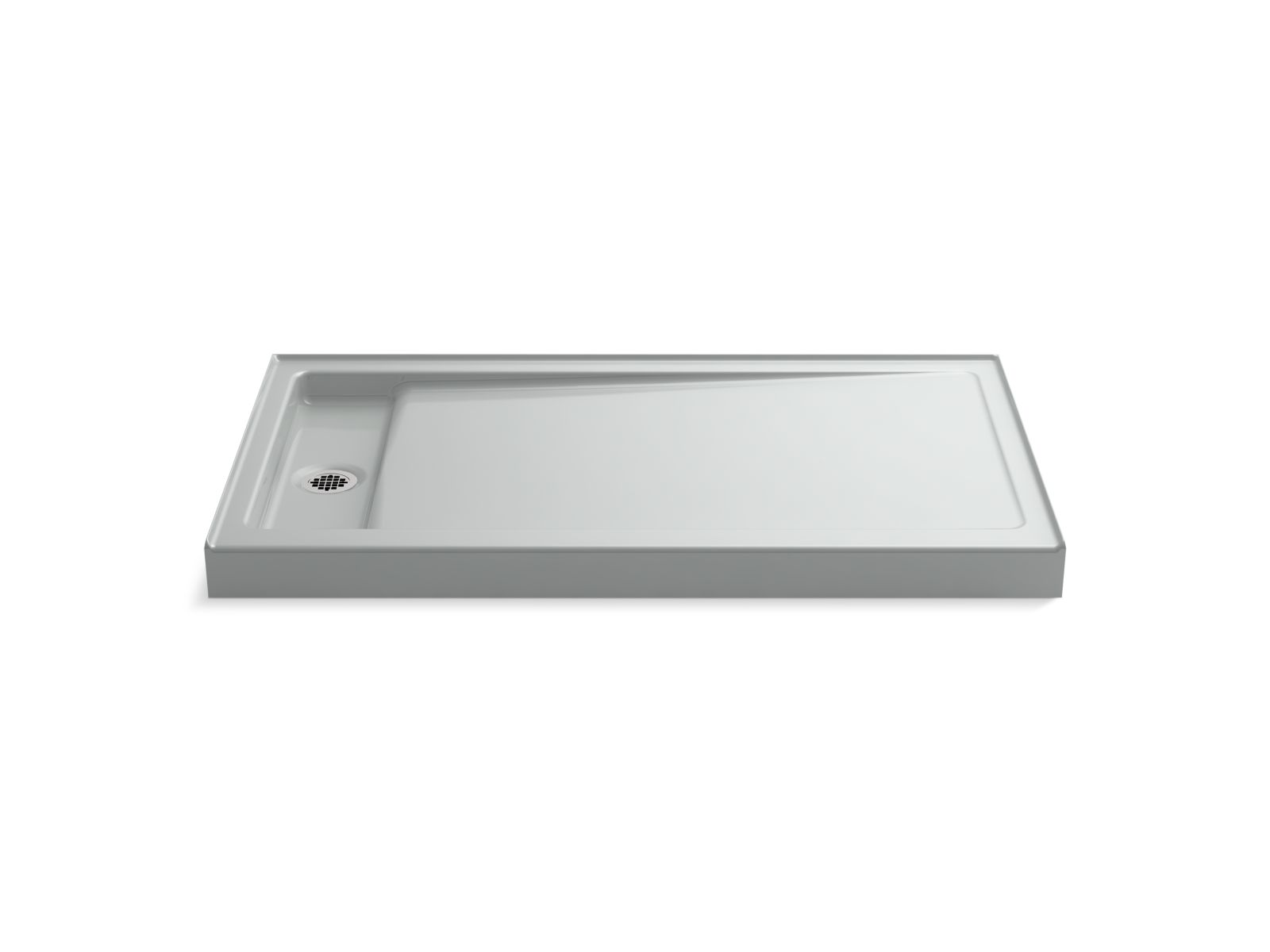 "Kohler Bellwether® K-9177-95 60"" x 34"" single-threshold shower base with left center drain Ice Grey"