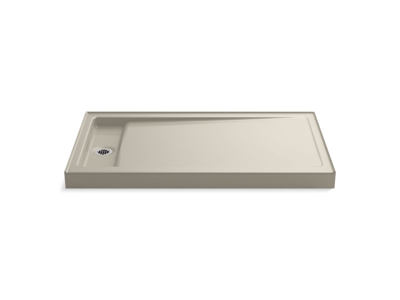 "Kohler Bellwether® K-9177-G9 60"" x 34"" single-threshold shower base with left center drain Sandbar"