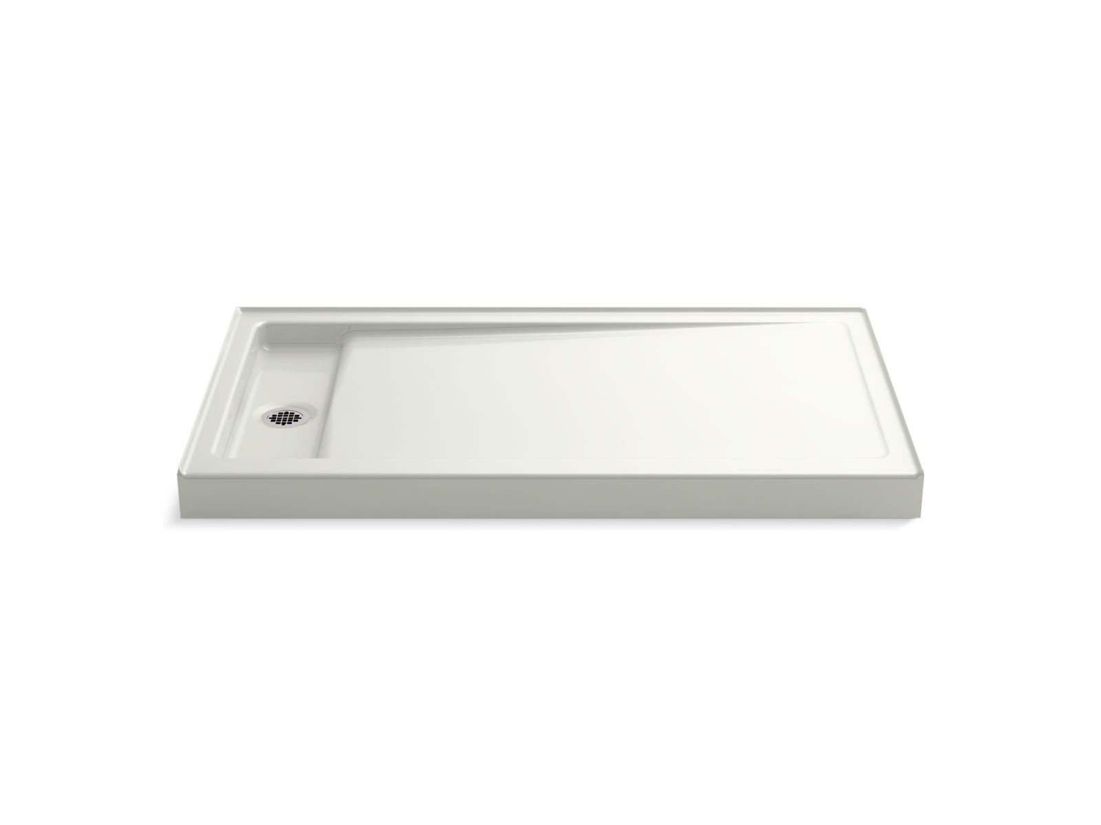 "Kohler Bellwether® K-9177-NY 60"" x 34"" single-threshold shower base with left center drain Dune"