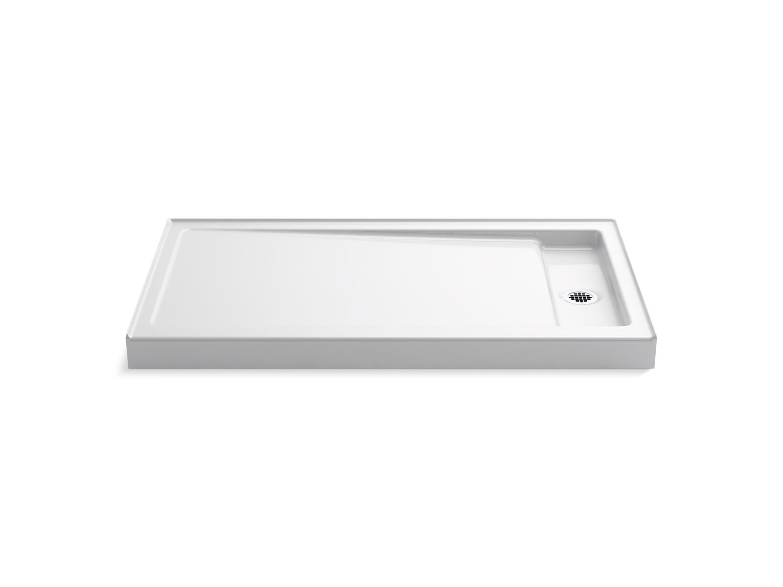 "Kohler Bellwether® K-9178-0 60"" x 34"" single-threshold shower base with right center drain White"
