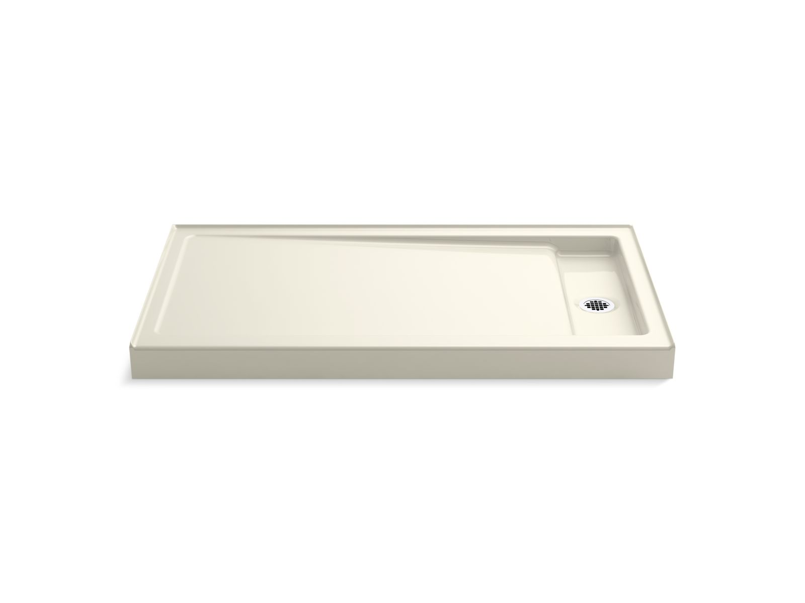 "Kohler Bellwether® K-9178-96 60"" x 34"" single-threshold shower base with right center drain Biscuit"