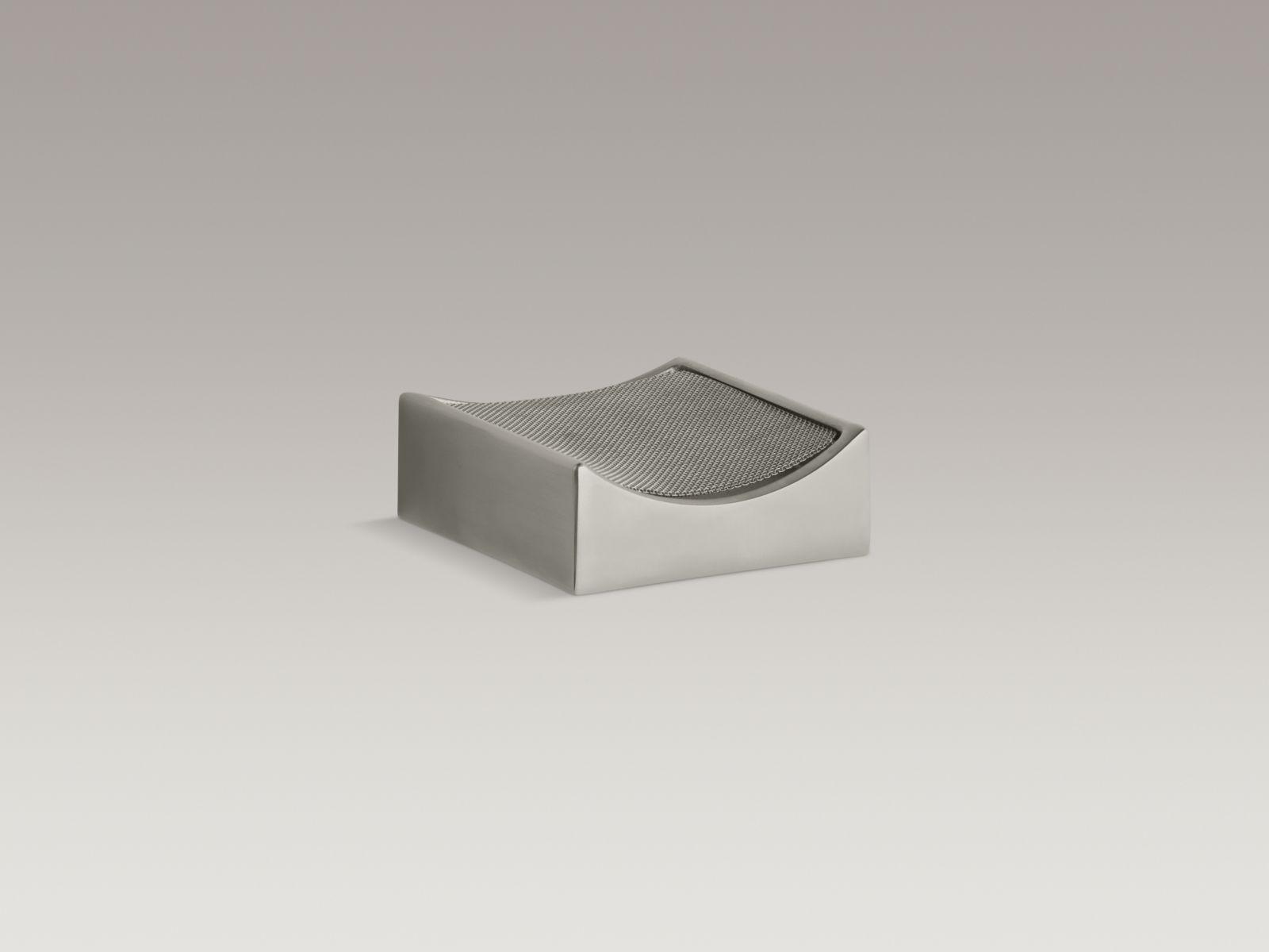Kohler K-924-BN Stillness Optional Drip Tray with Removable Screen Vibrant Brushed Nickel