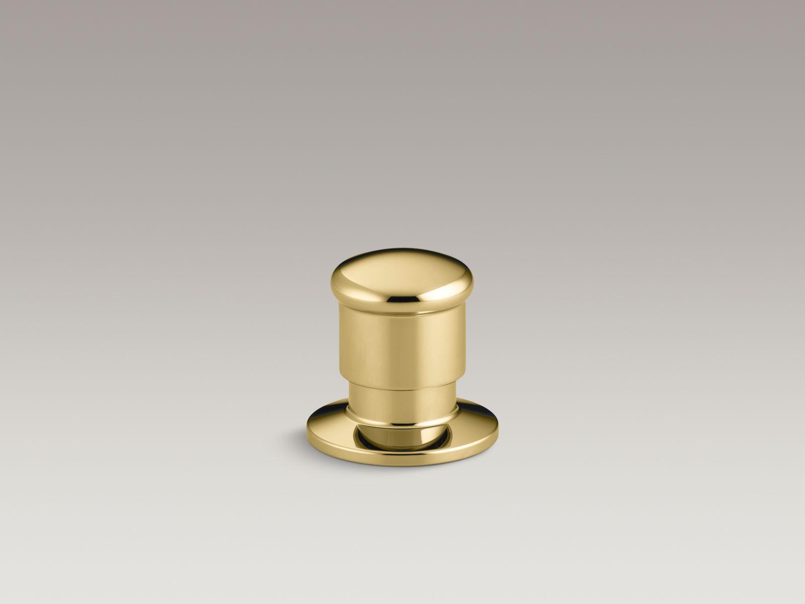 Kohler K-9530-PB Deck-Mount Two-Way Diverter Valve Vibrant Polished Brass