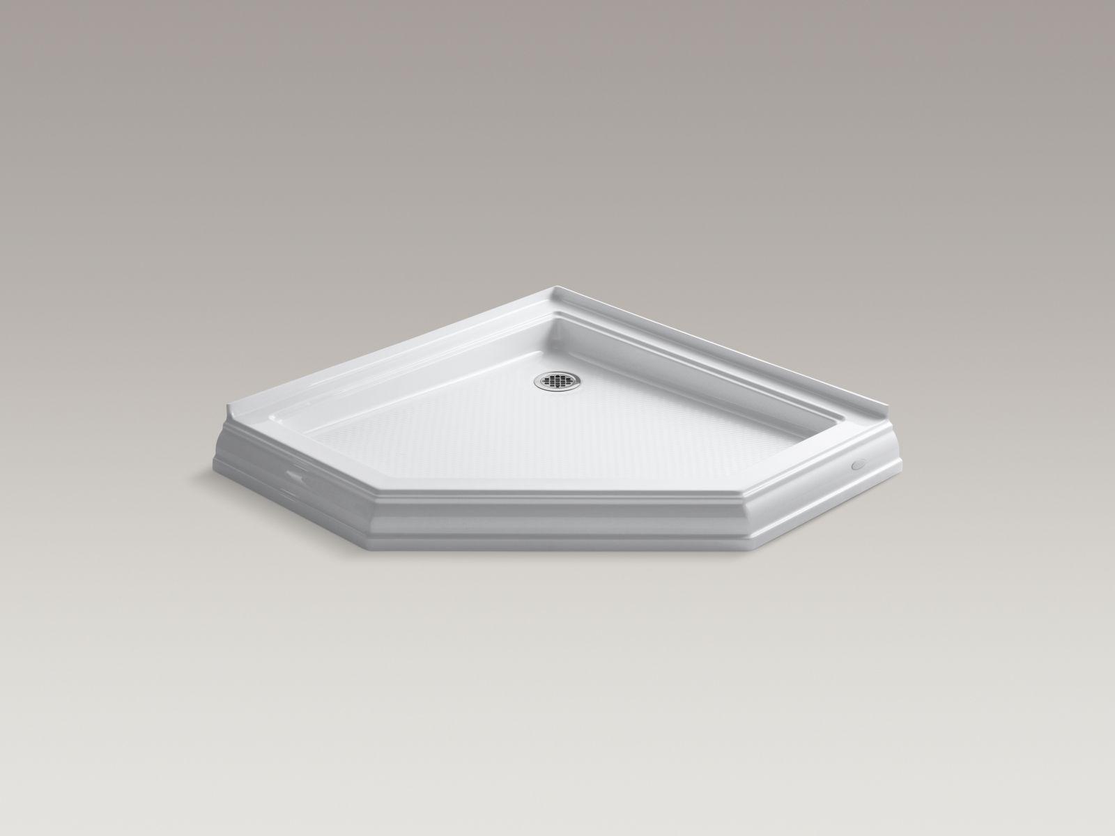 Kohler K-9542-0 Memoirs Neo-Angle Shower Receptor White