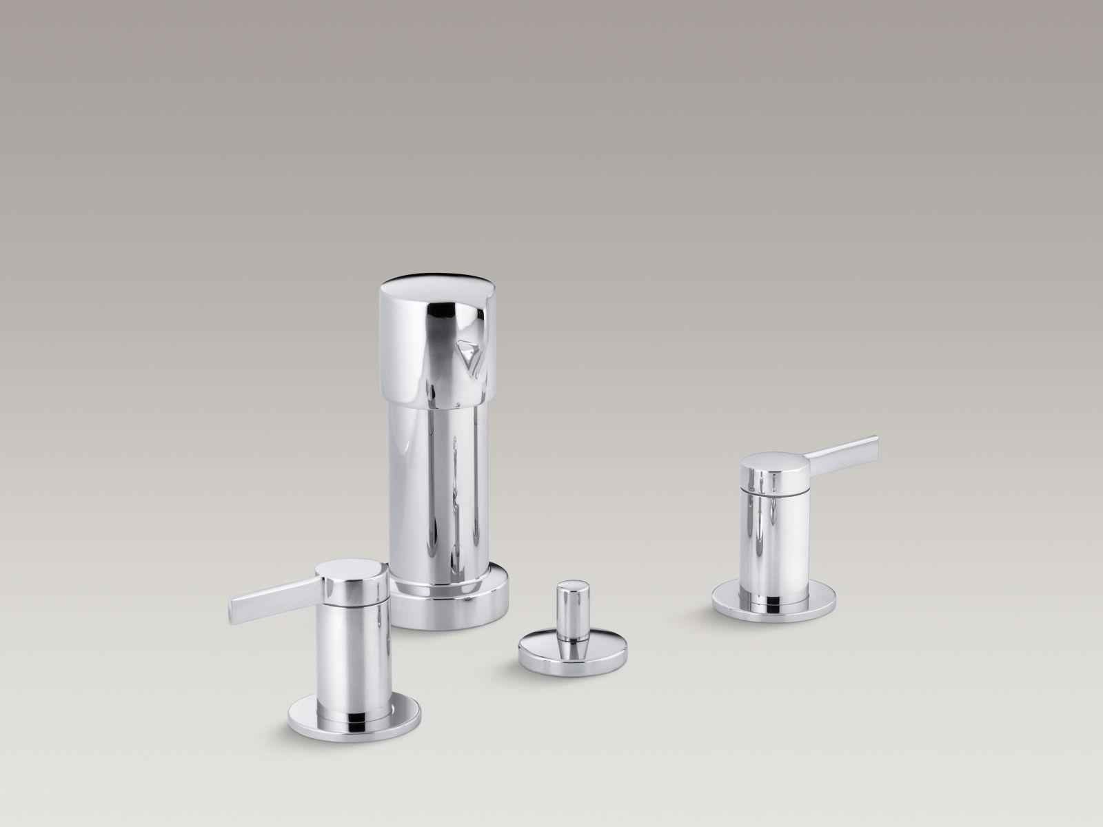 Kohler K-960-4-CP Stillness Vertical Spray Bidet Faucet with Lever Handles Polished Chrome